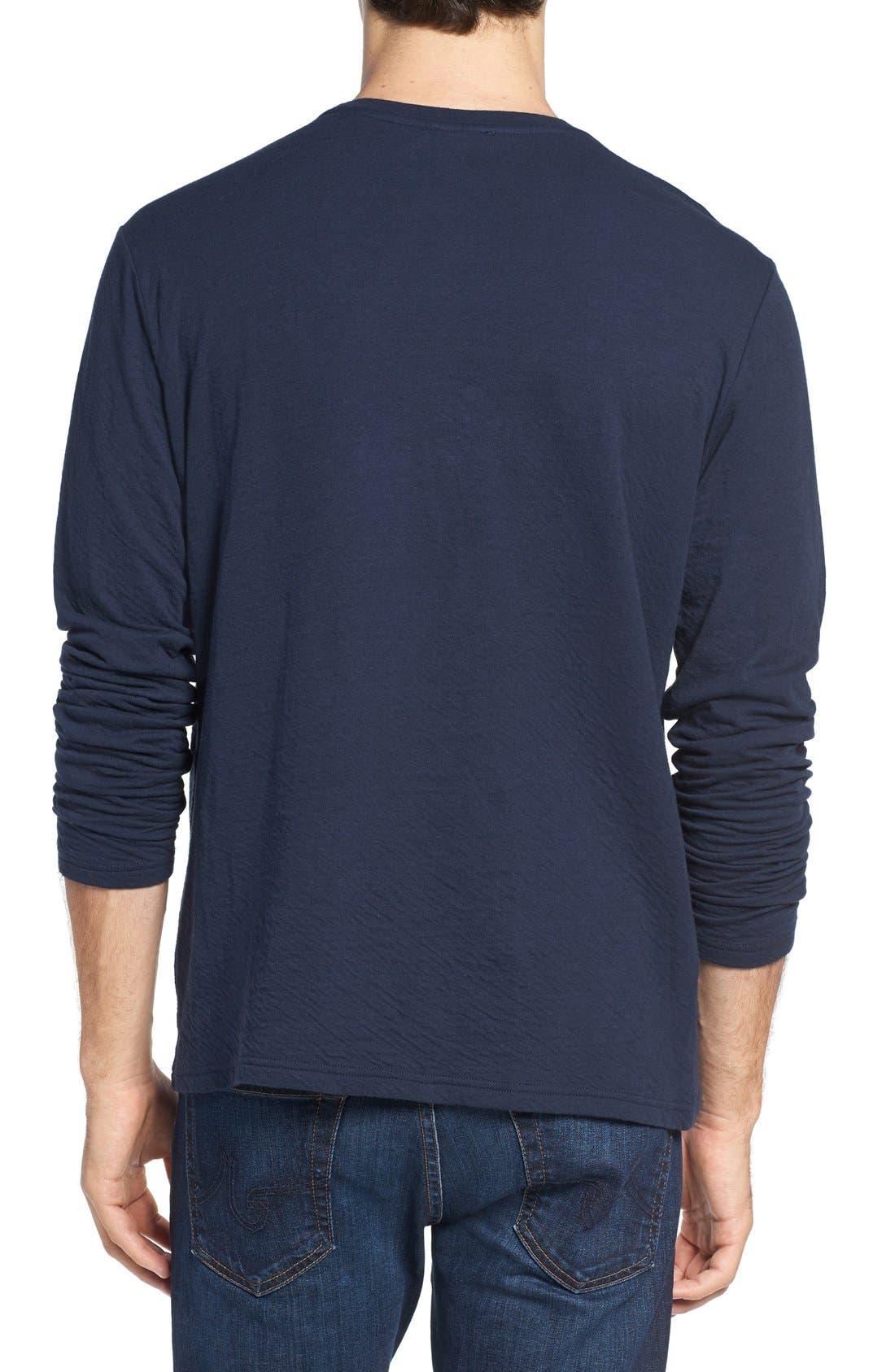 Long Sleeve Crewneck T-Shirt,                             Alternate thumbnail 6, color,