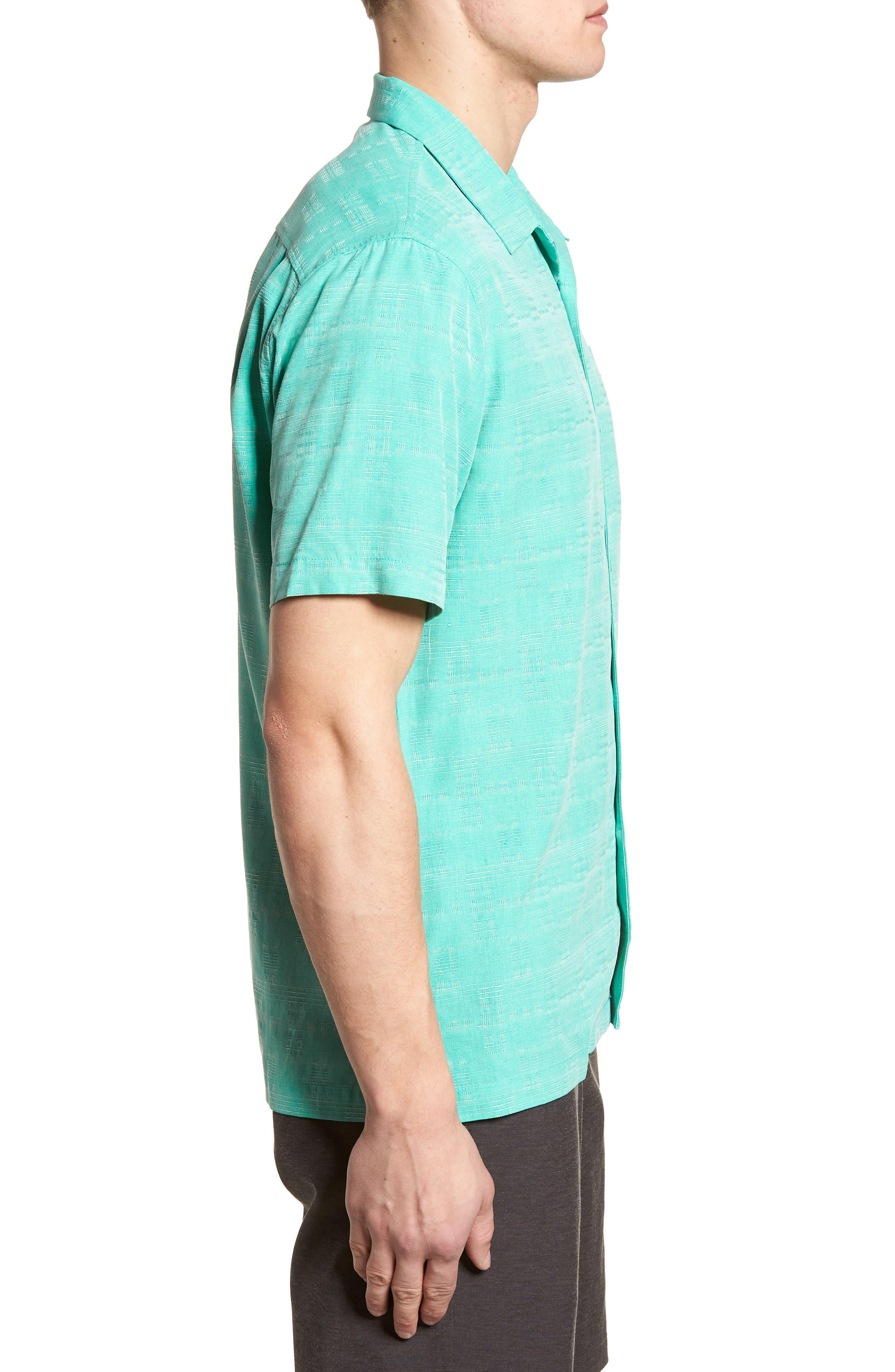 'Geo-Rific Jacquard' Original Fit Silk Camp Shirt,                             Alternate thumbnail 18, color,