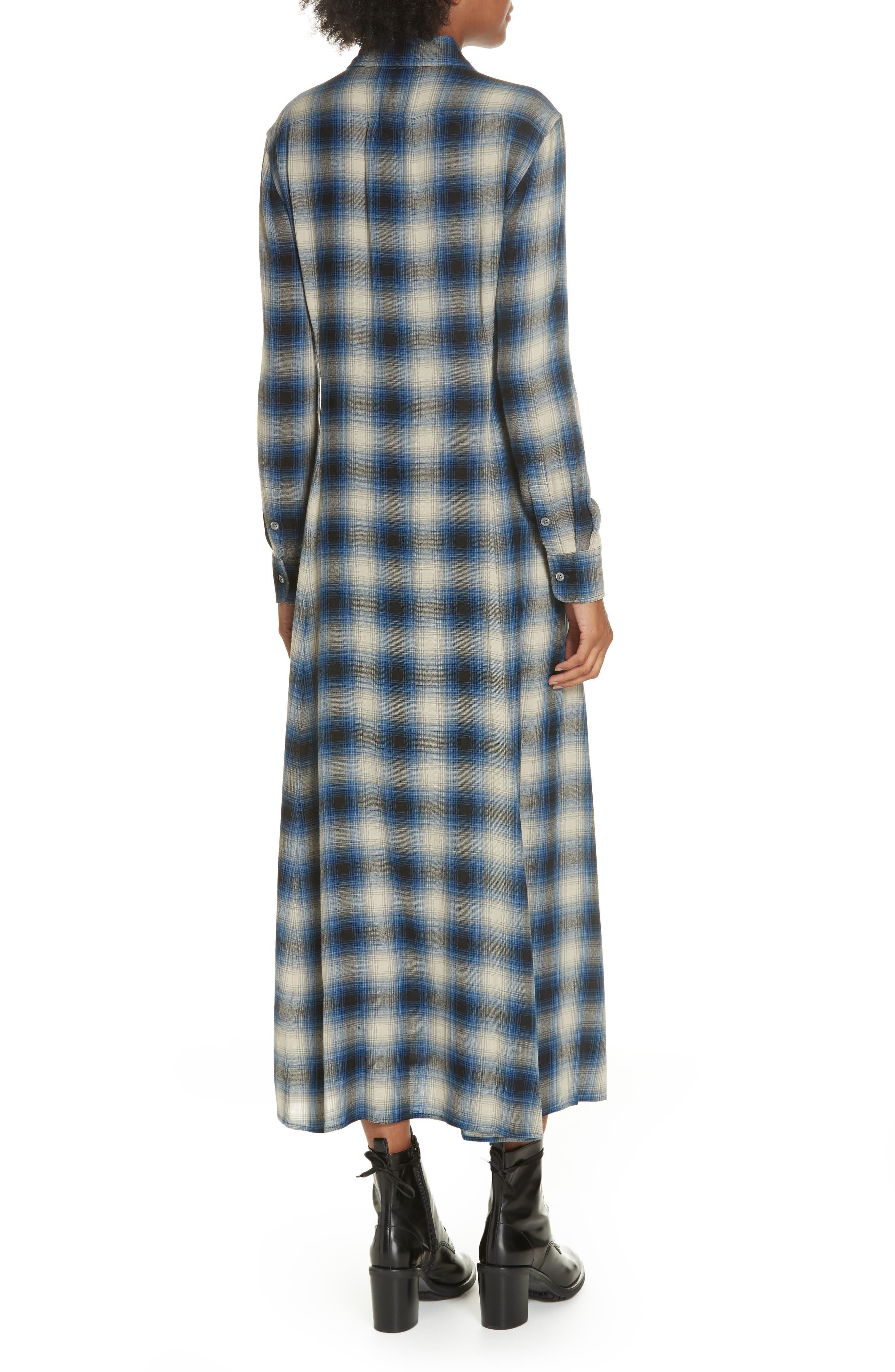 Plaid Midi Shirtdress,                             Alternate thumbnail 2, color,                             400