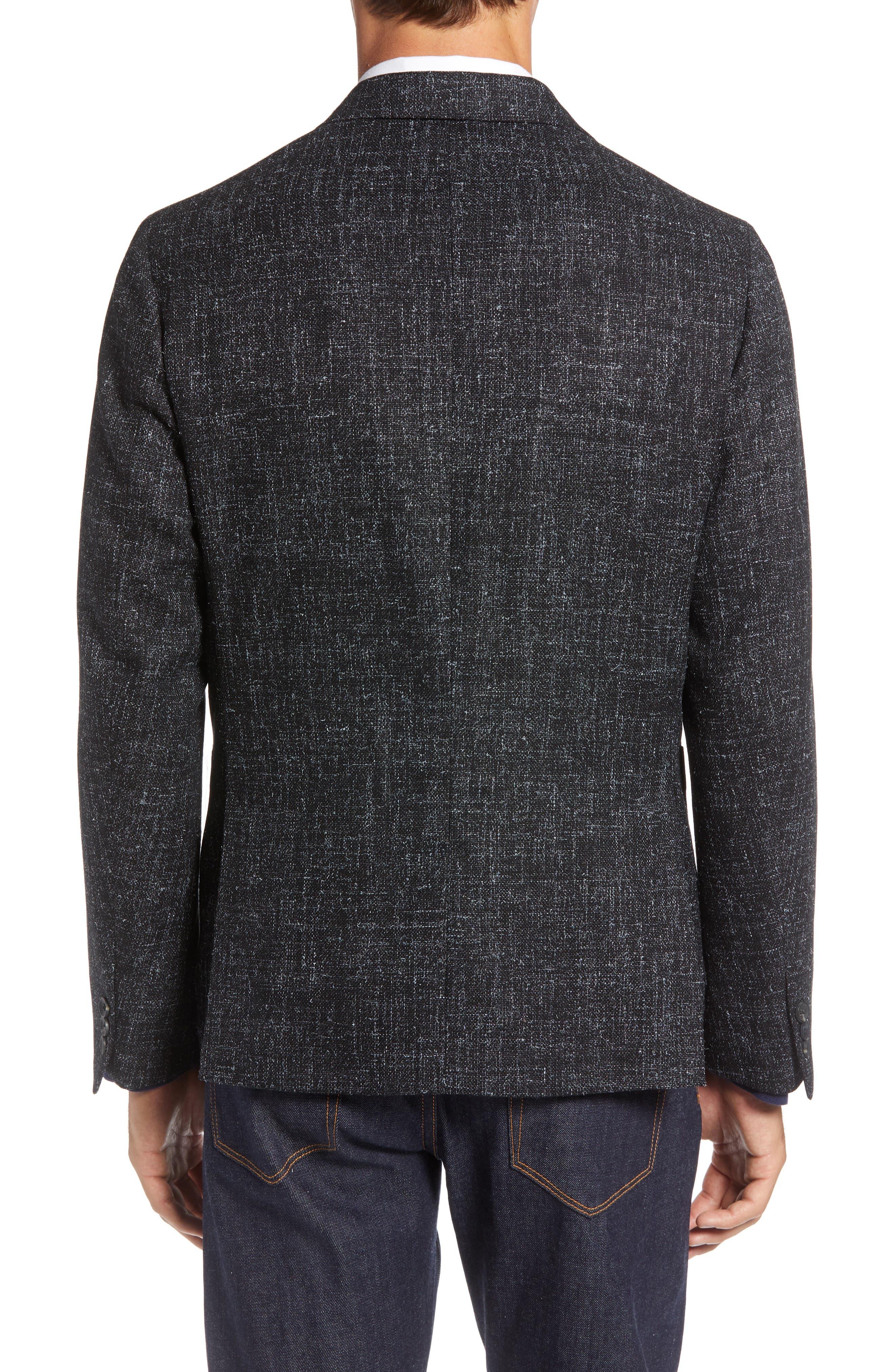 1901,                             Extra Trim Fit Wool Blend Sport Coat,                             Alternate thumbnail 2, color,                             001
