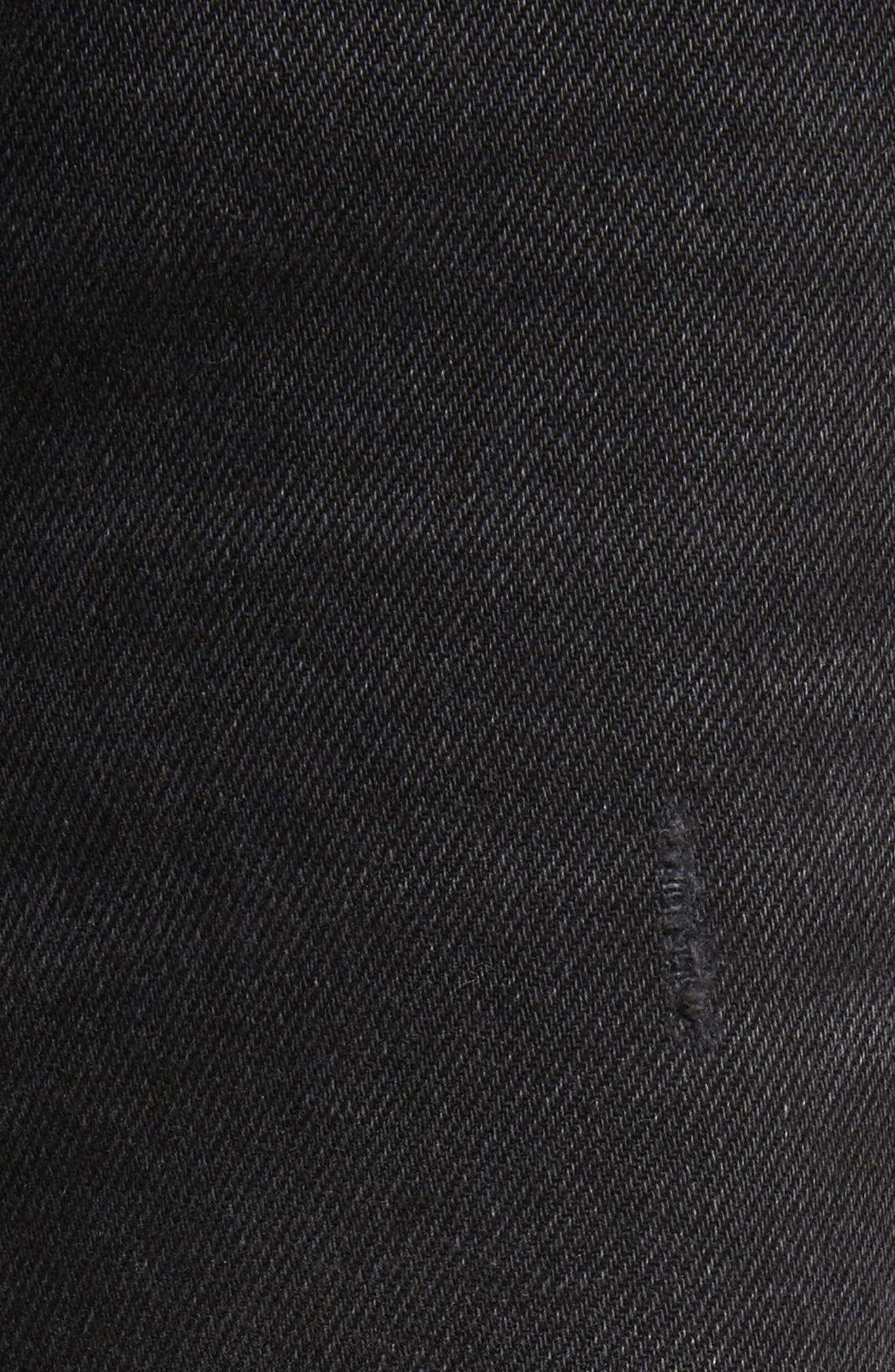 Karolina Ripped Rigid High Waist Skinny Jeans,                             Alternate thumbnail 5, color,                             TRAVELIN BAND