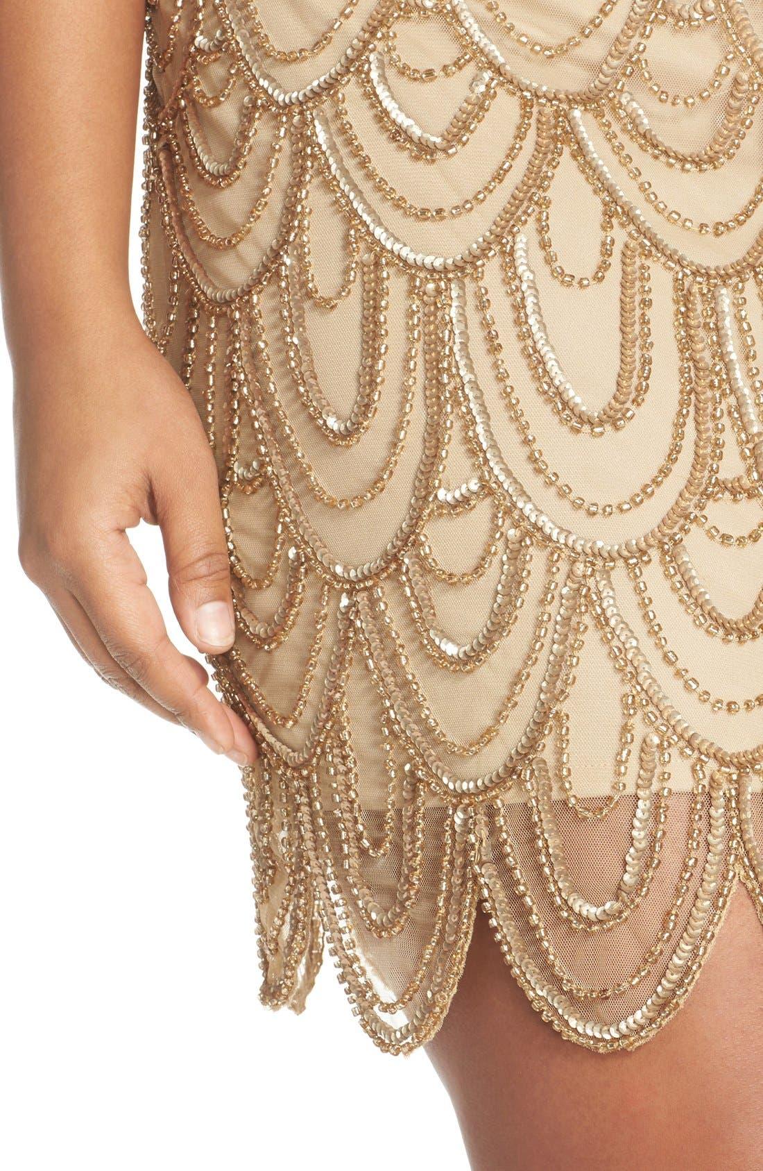 Beaded Sheath Dress,                             Alternate thumbnail 35, color,