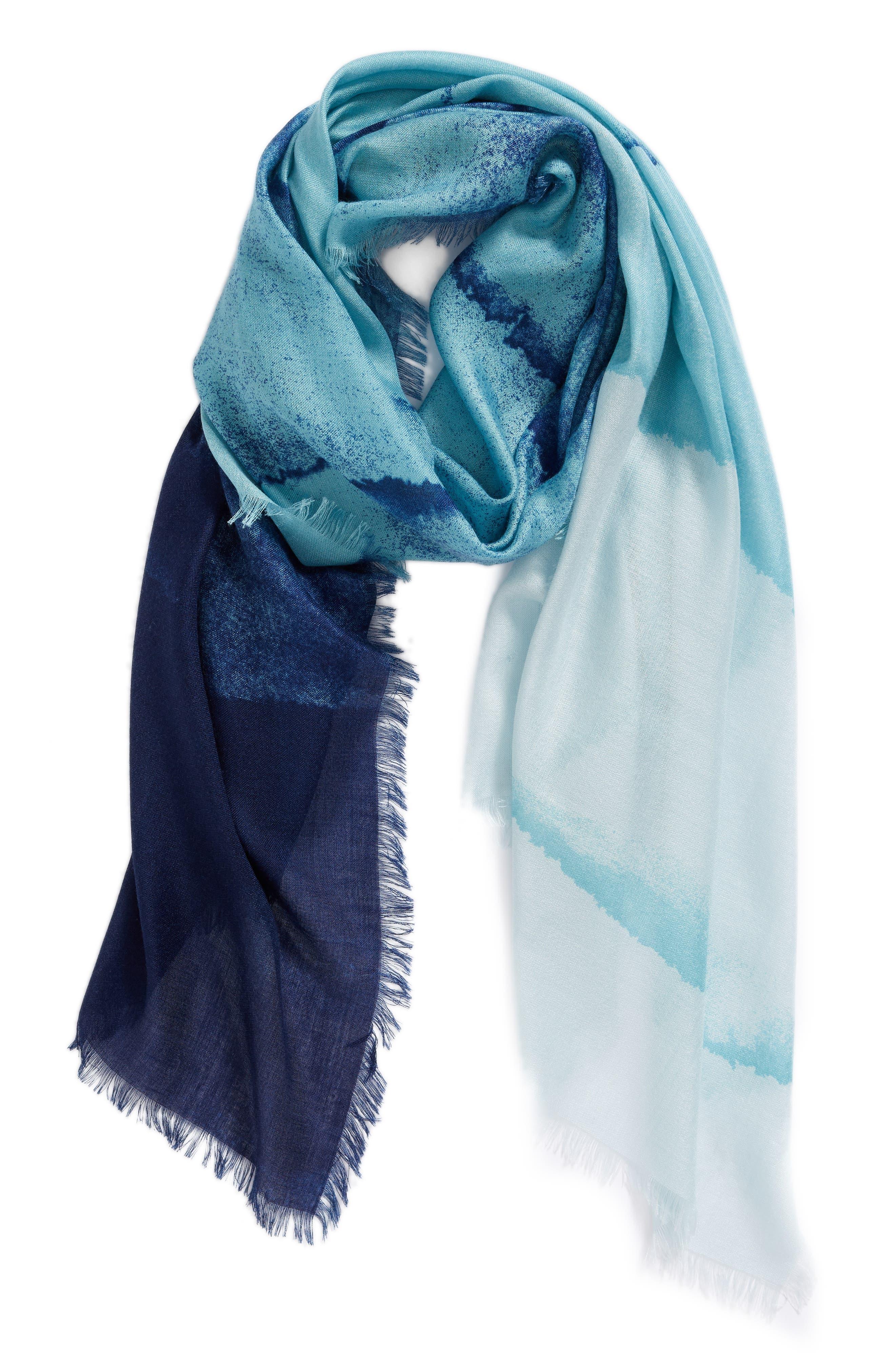 Eyelash Trim Print Cashmere & Silk Wrap,                             Alternate thumbnail 48, color,