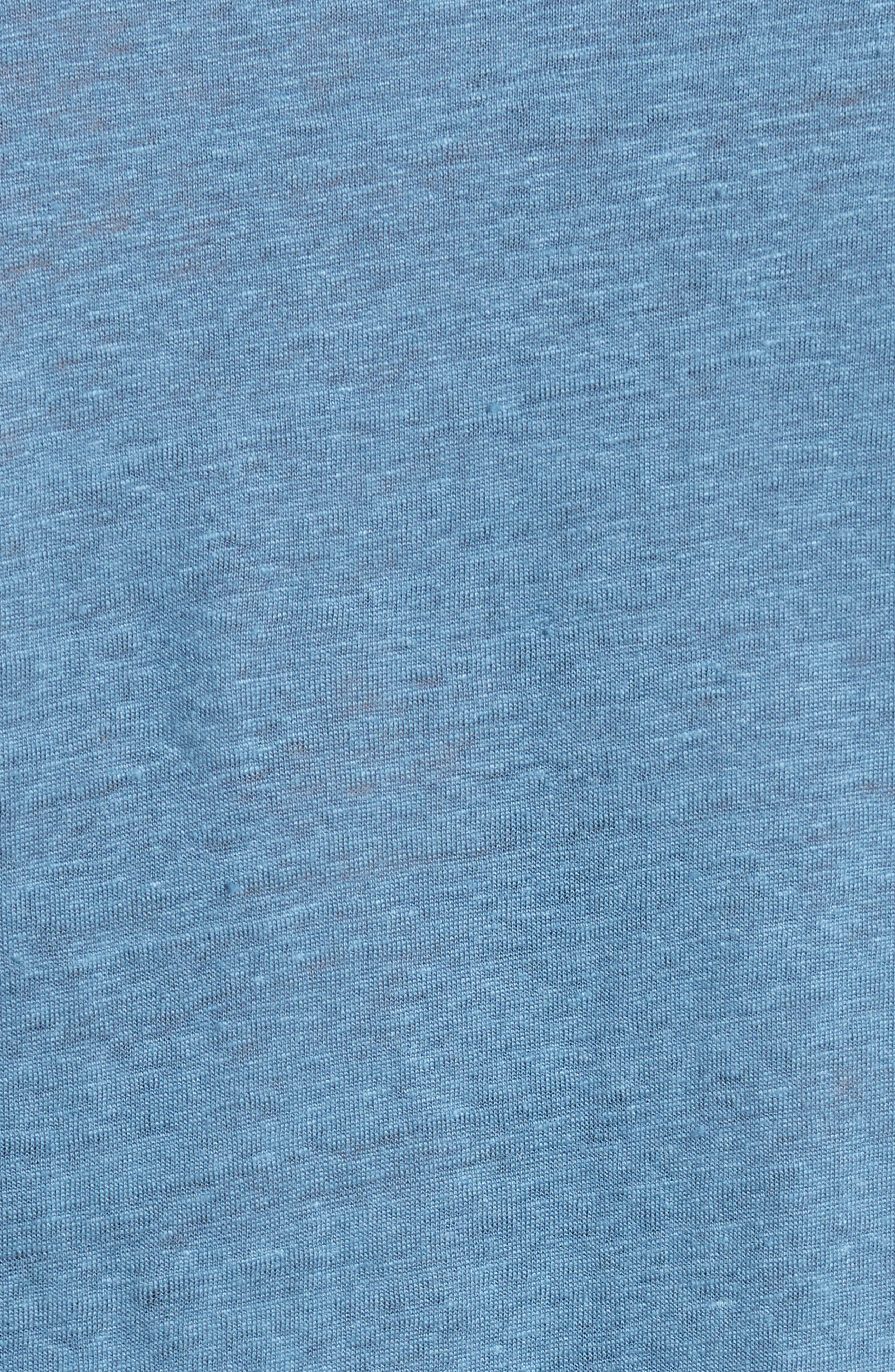 Linen T-Shirt,                             Alternate thumbnail 5, color,                             428