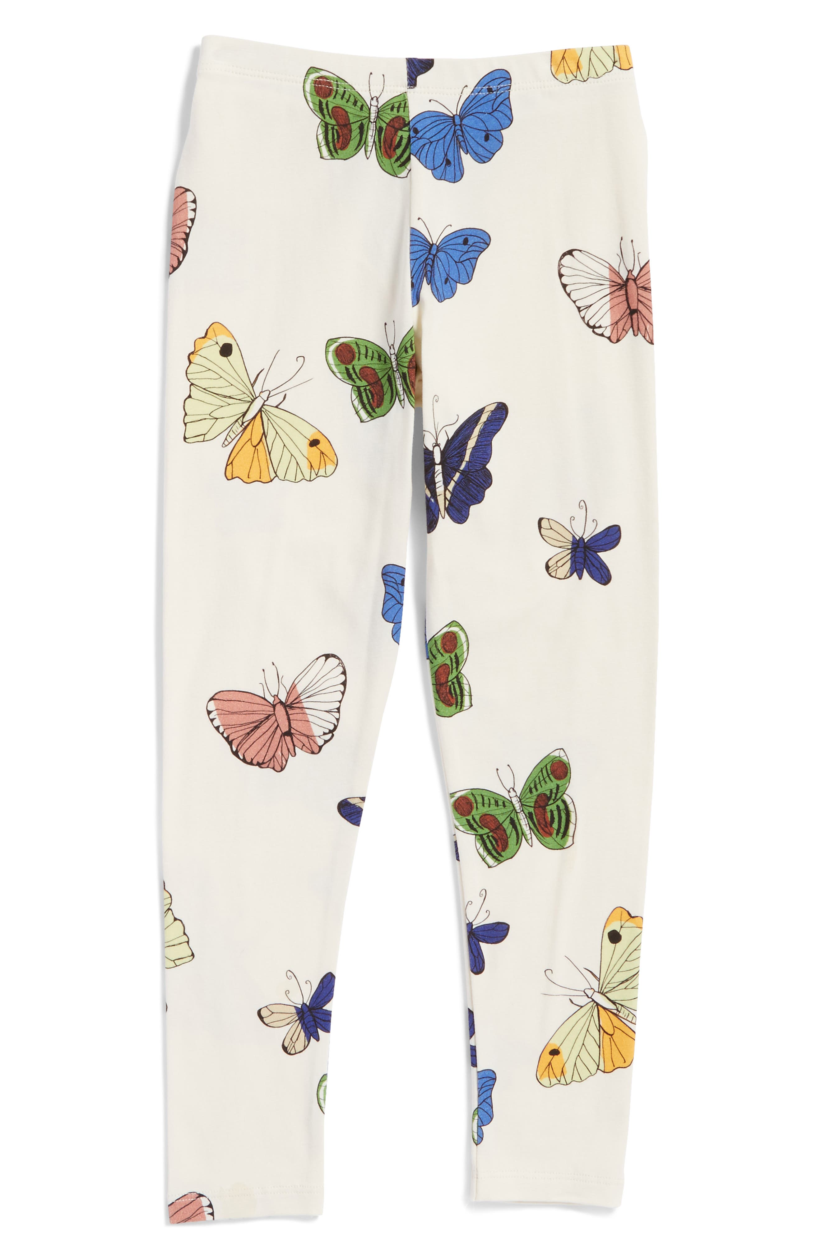Butterflies Organic Cotton Leggings,                             Main thumbnail 1, color,                             901