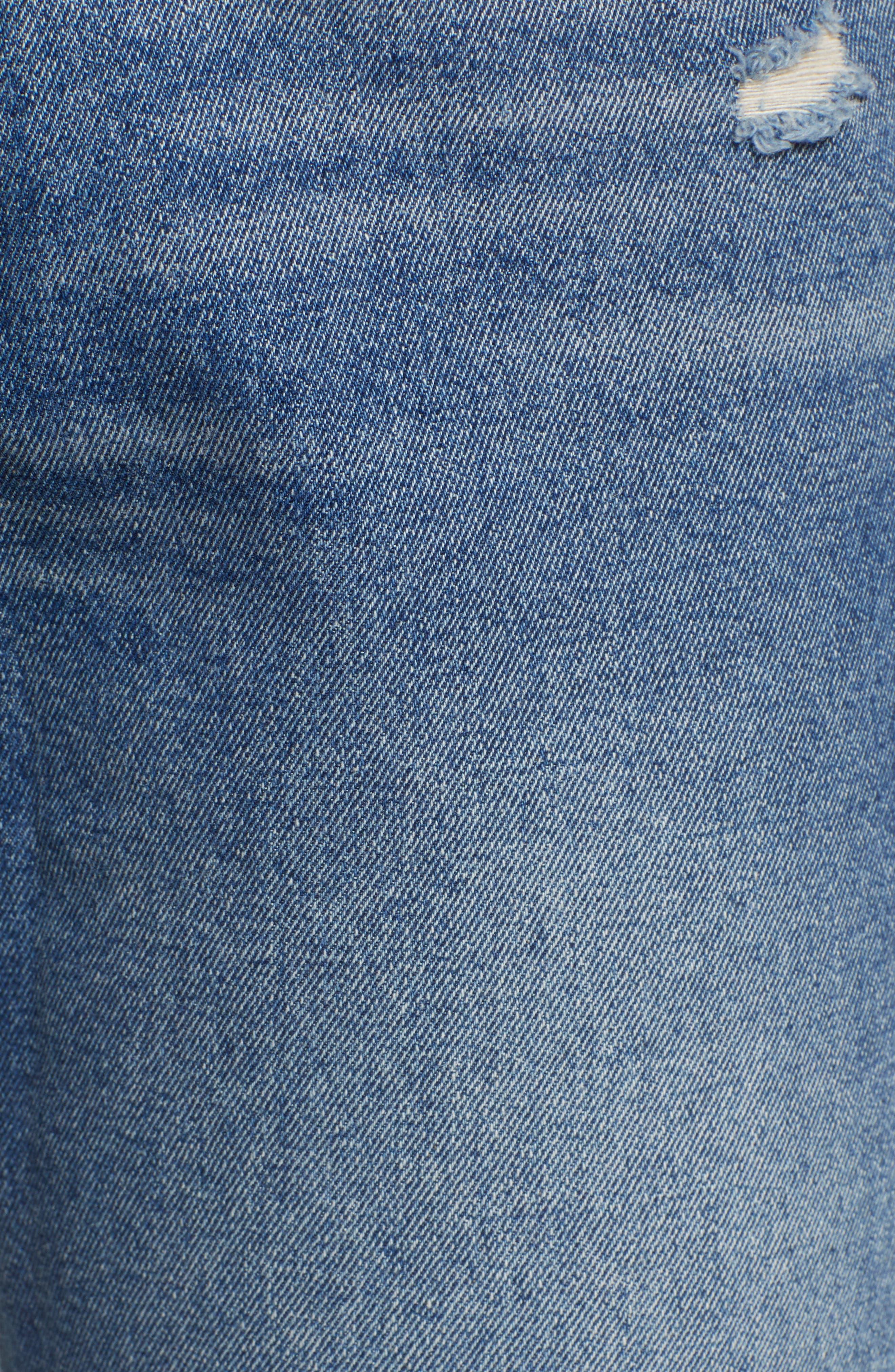 SP BLACK,                             Cuffed Ripped Boyfriend Jeans,                             Alternate thumbnail 6, color,                             420