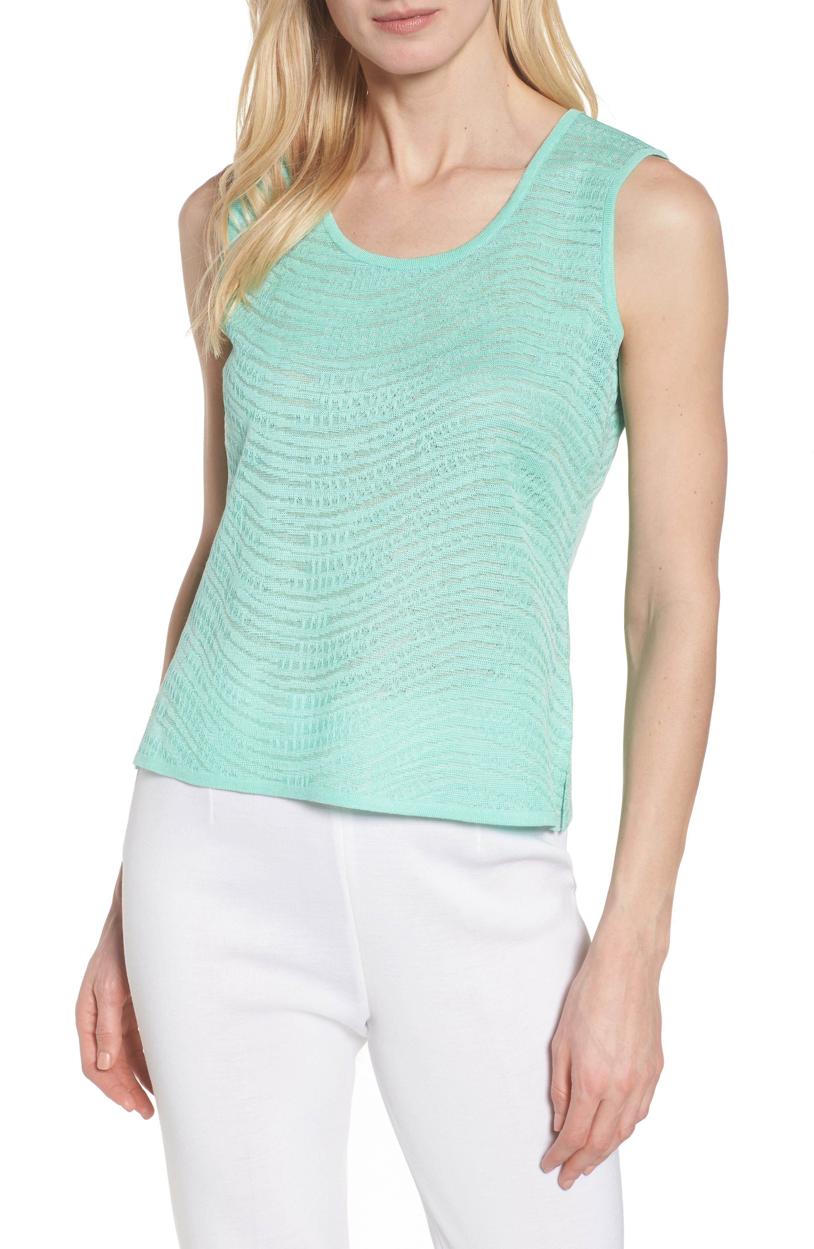 Textured Tank,                         Main,                         color, HERB