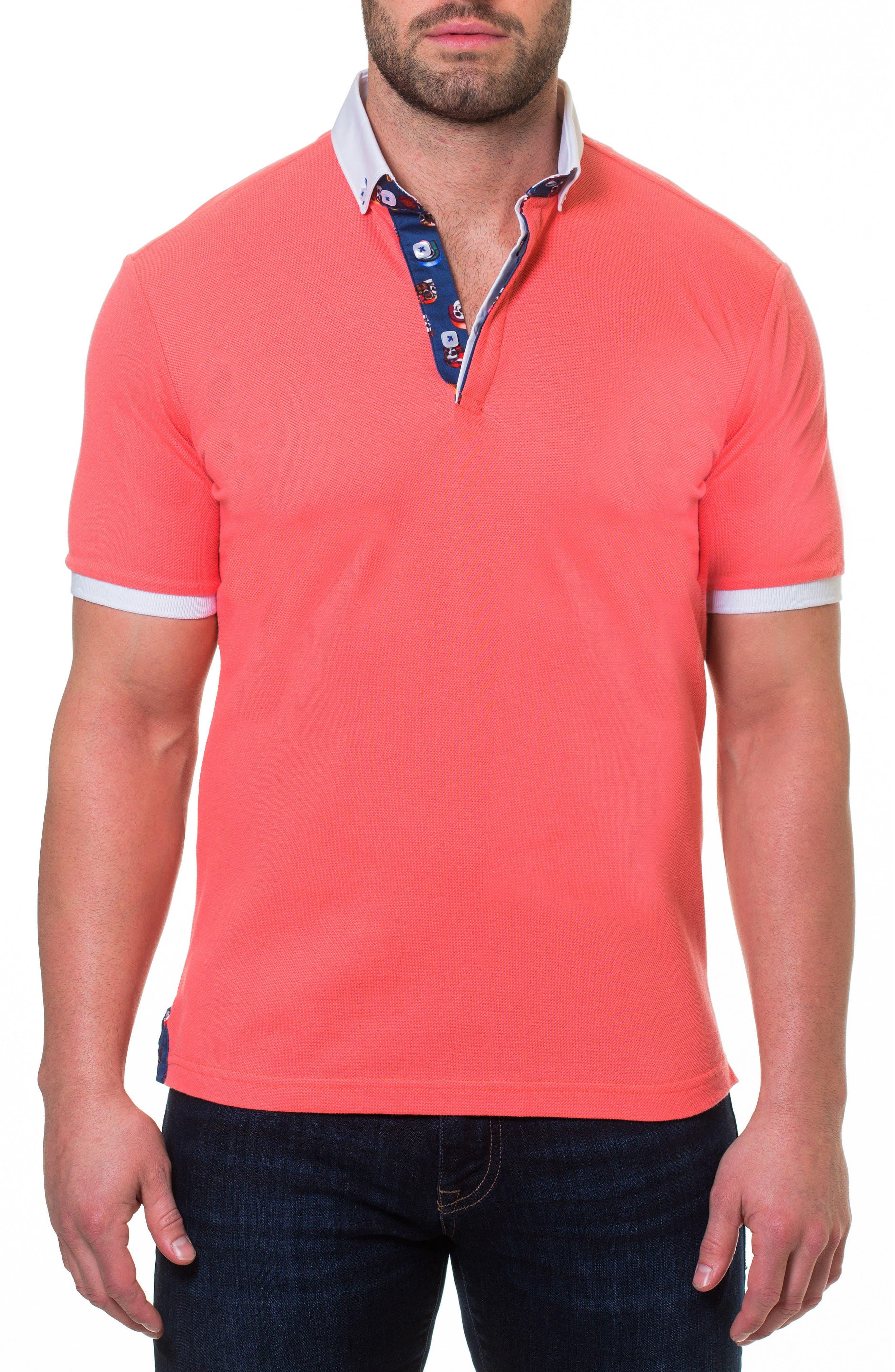 Piqué Polo,                         Main,                         color, ORANGE