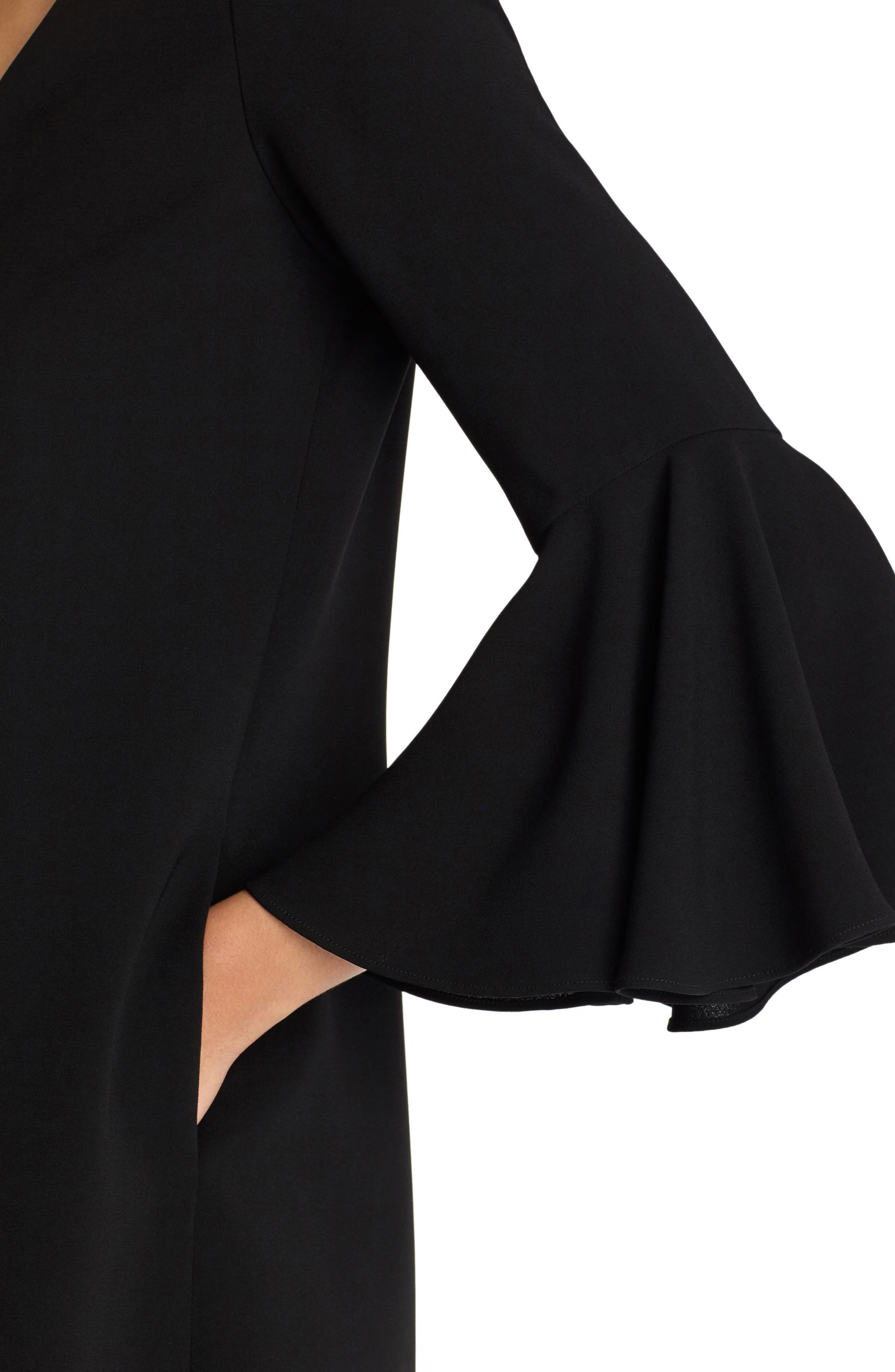Holly Bell Sleeve Dress,                             Alternate thumbnail 4, color,                             001