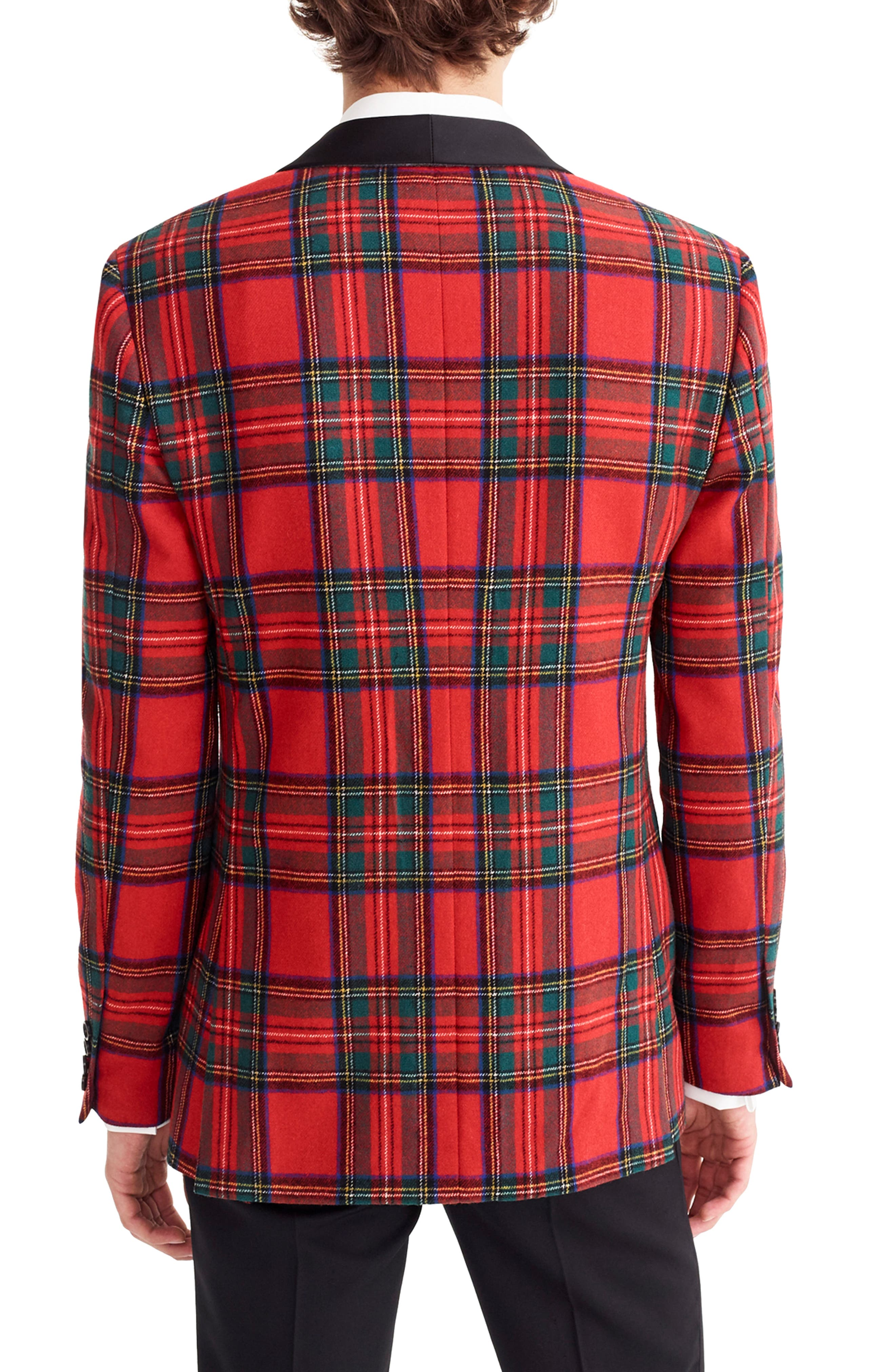 J.CREW,                             Ludlow Slim Fit Tartan Wool Blend Dinner Jacket,                             Alternate thumbnail 2, color,                             600