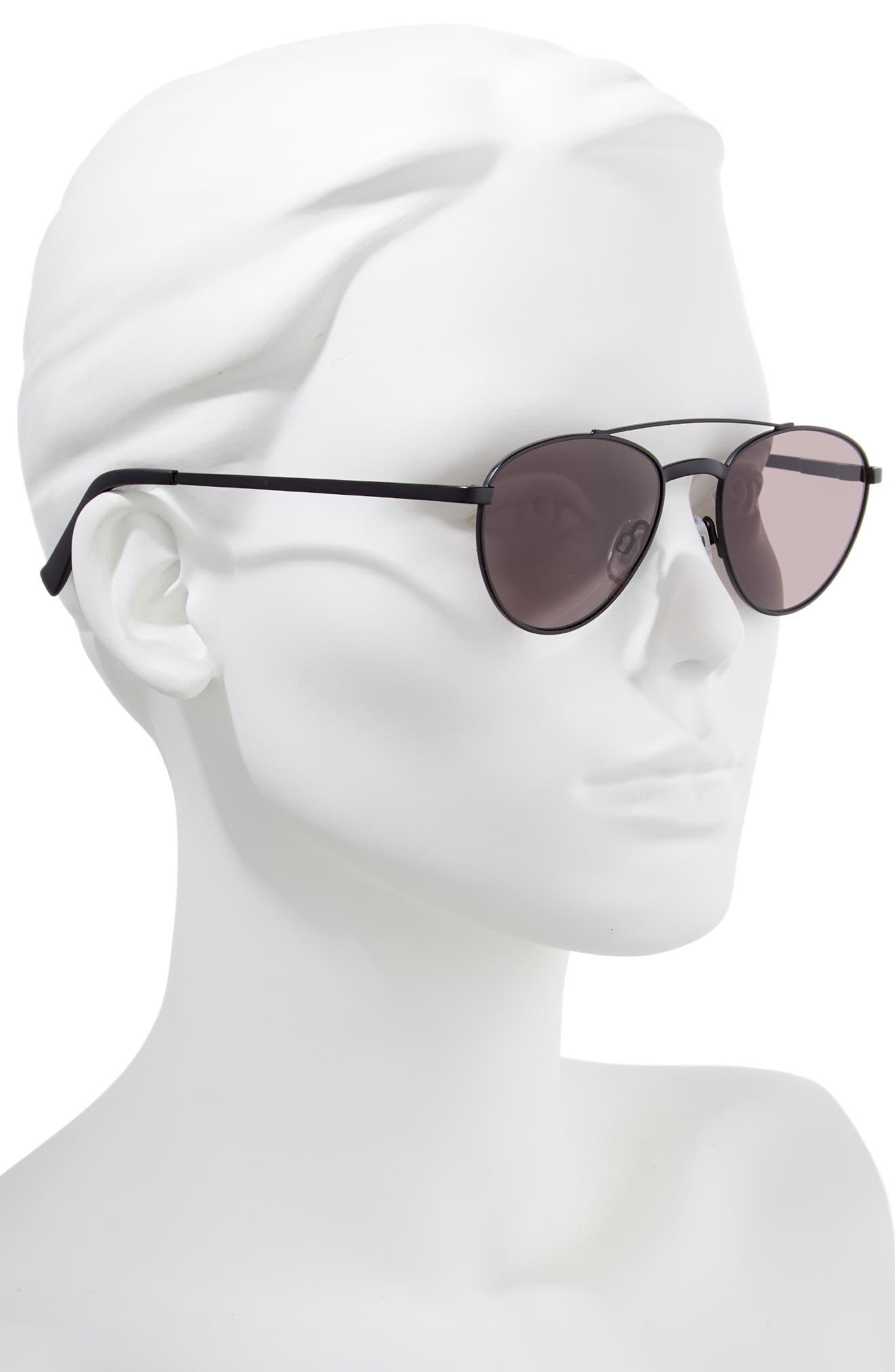 Rocket Man 52mm Aviator Sunglasses,                             Alternate thumbnail 2, color,                             MATTE BLACK