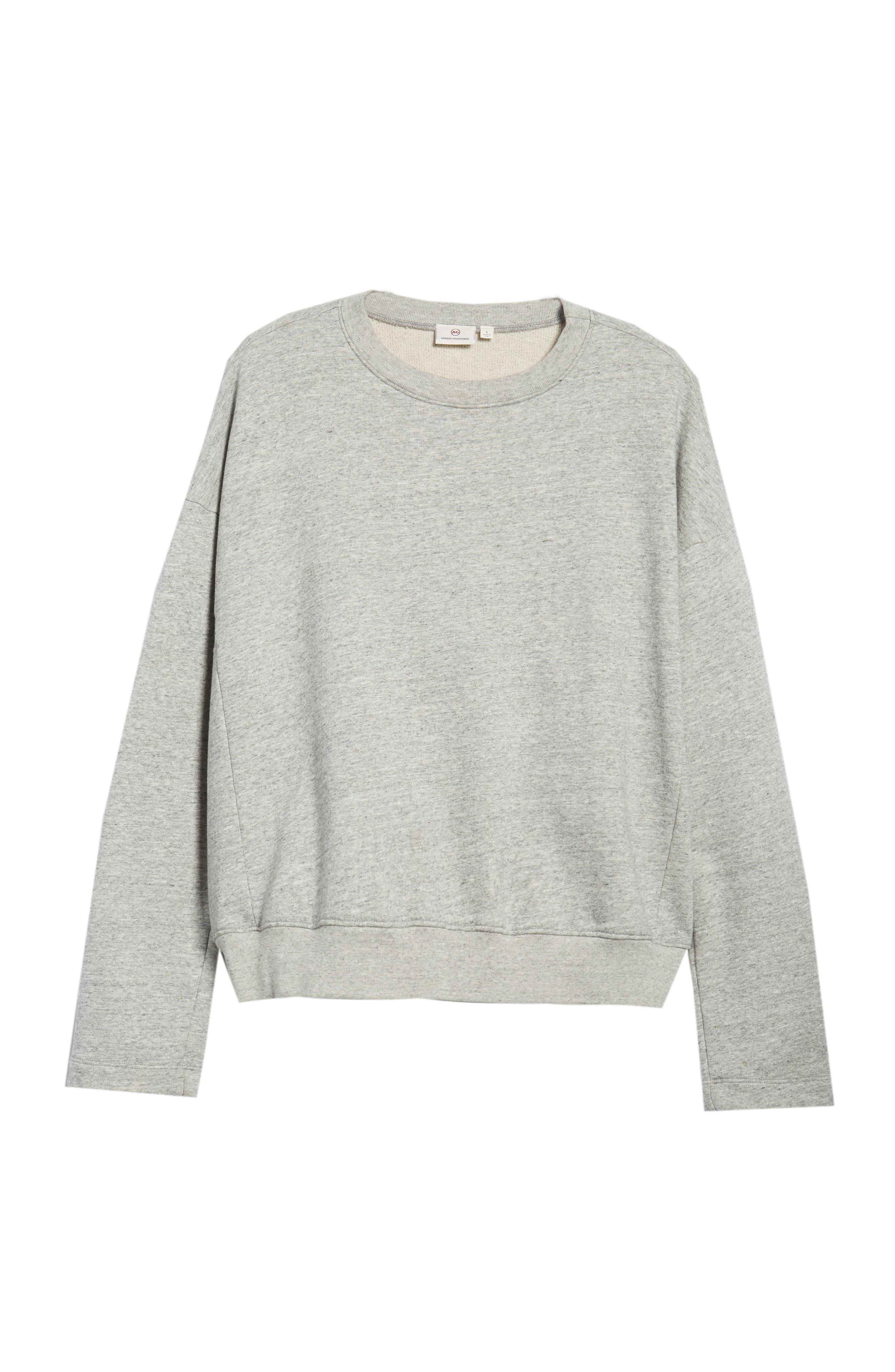 Berdine Oversize Sweatshirt,                             Alternate thumbnail 7, color,                             HEATHER GREY