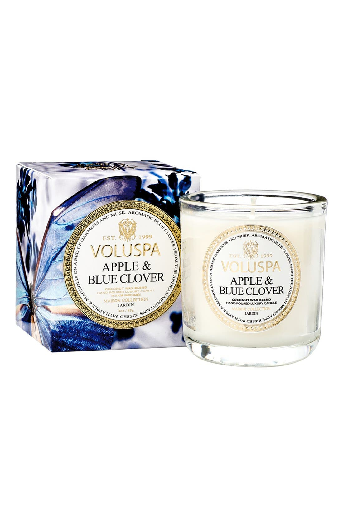 Maison Jardin Apple & Blue Clover Classic Candle,                             Main thumbnail 1, color,                             APPLE BLUE CLOVER