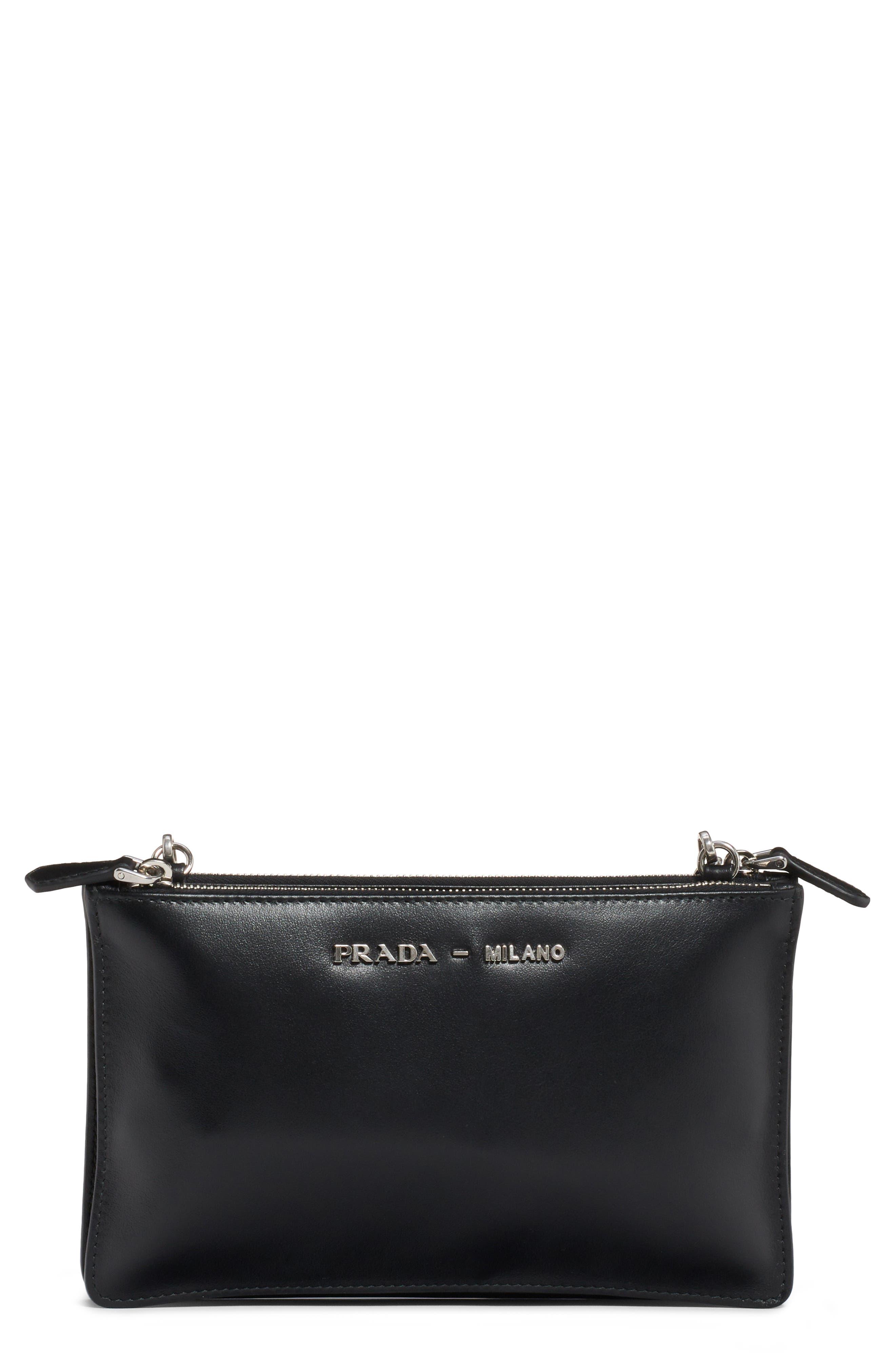 City Calfskin Leather Crossbody Bag, Main, color, 001