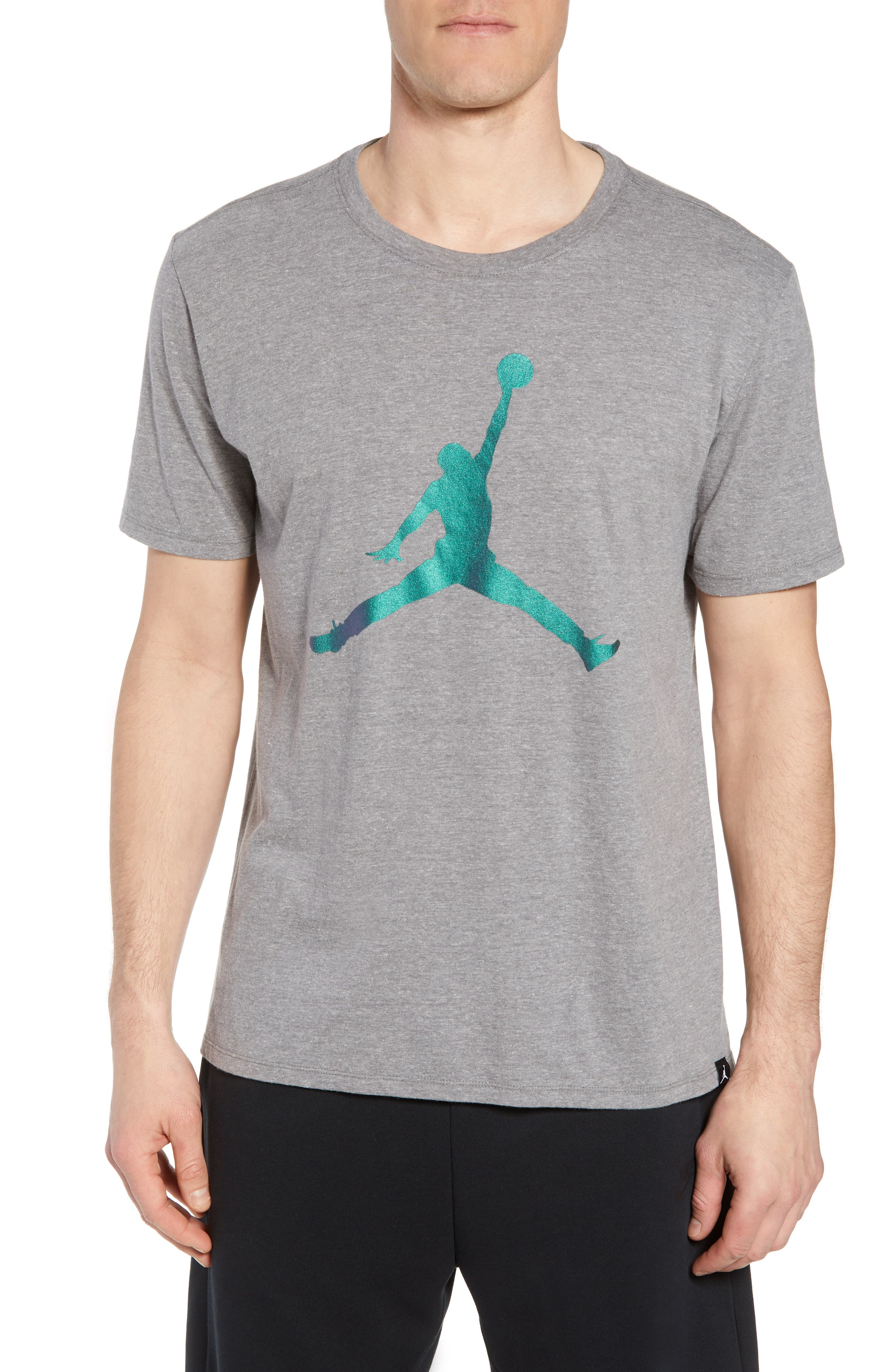 Nike Jumpman Tee,                         Main,                         color, CARBON HEATHER