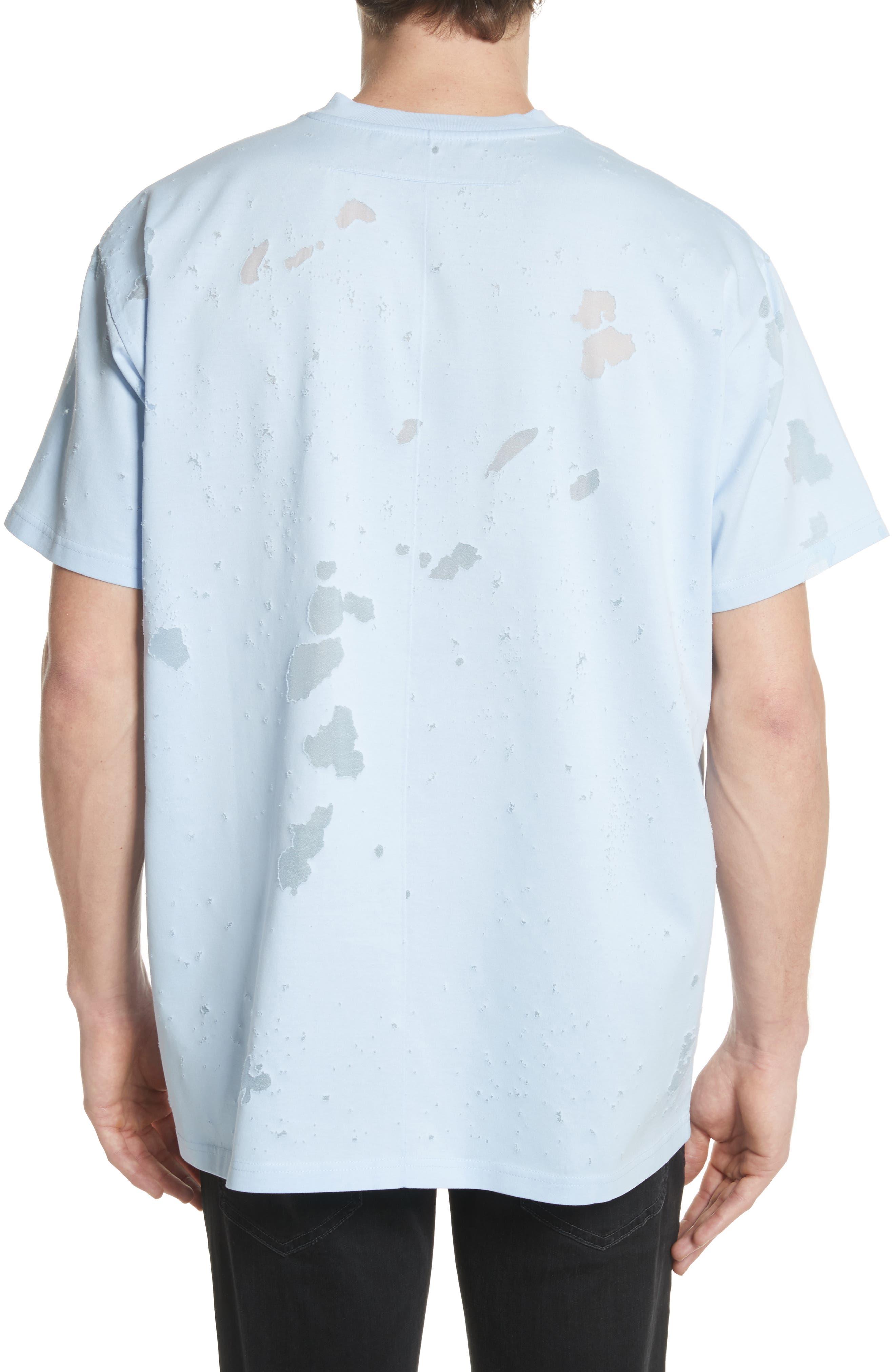 Destroyed Logo Graphic T-Shirt,                             Alternate thumbnail 2, color,                             BLUE