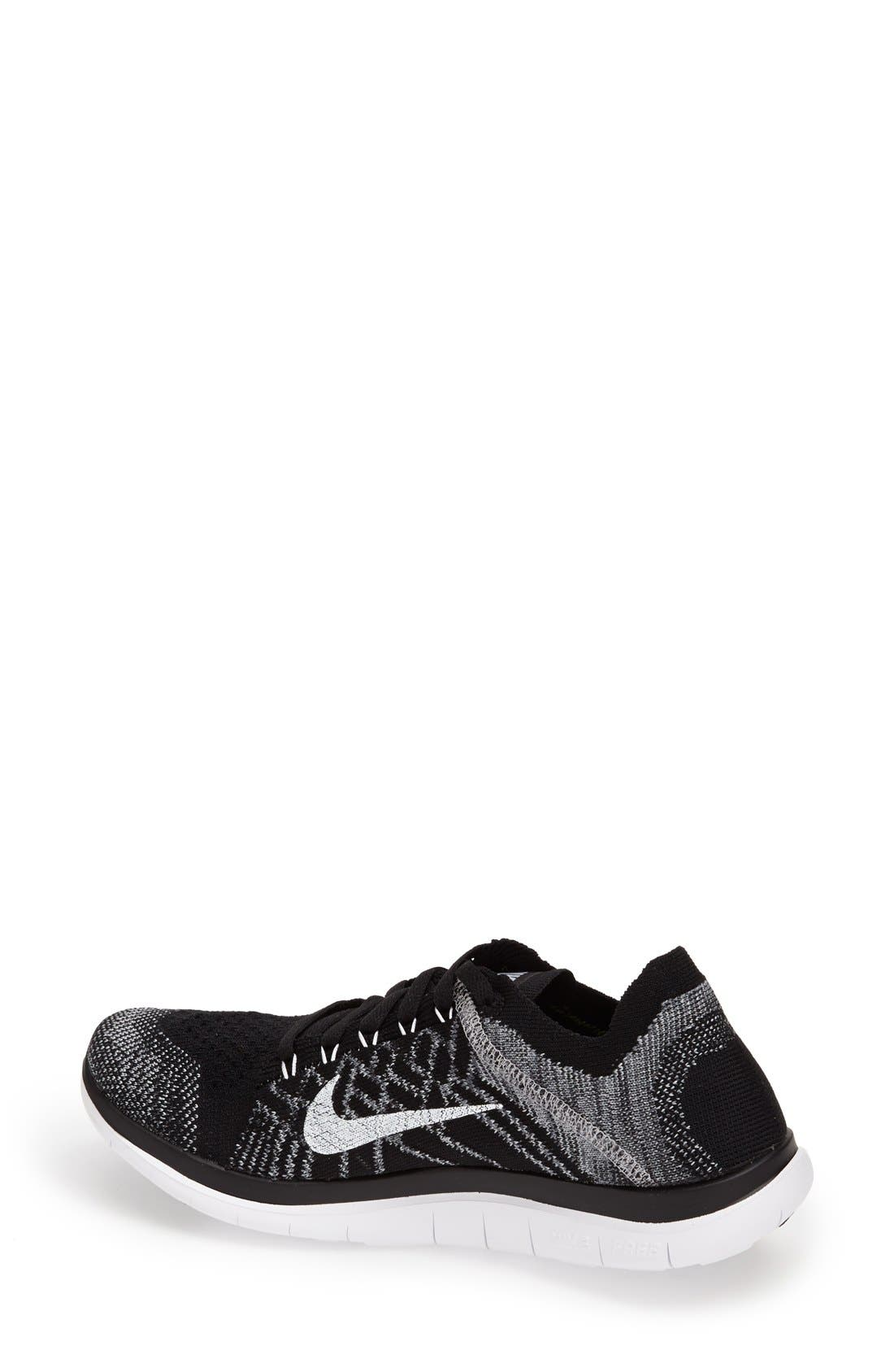 'Free 4.0 Flyknit' Running Shoe,                             Alternate thumbnail 2, color,                             001
