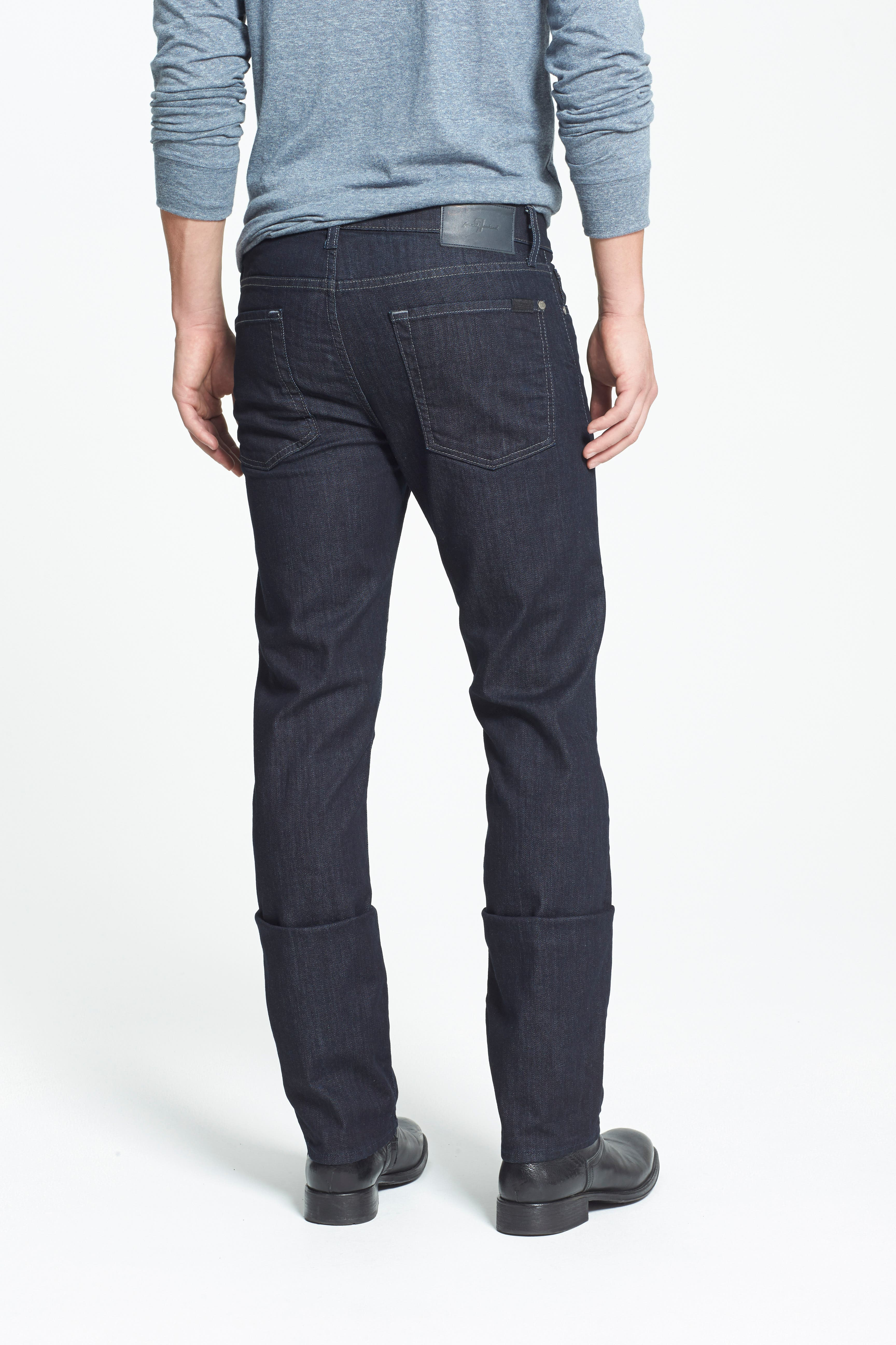 7 FOR ALL MANKIND<SUP>®</SUP>,                             'Slimmy - Luxe Performance' Slim Fit Jeans,                             Alternate thumbnail 3, color,                             400