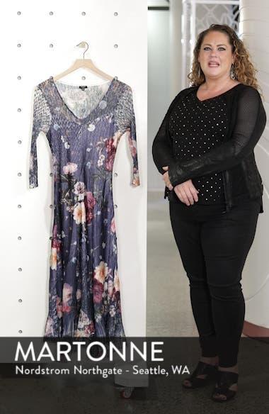 Foral Print Lace Inset Dress, sales video thumbnail