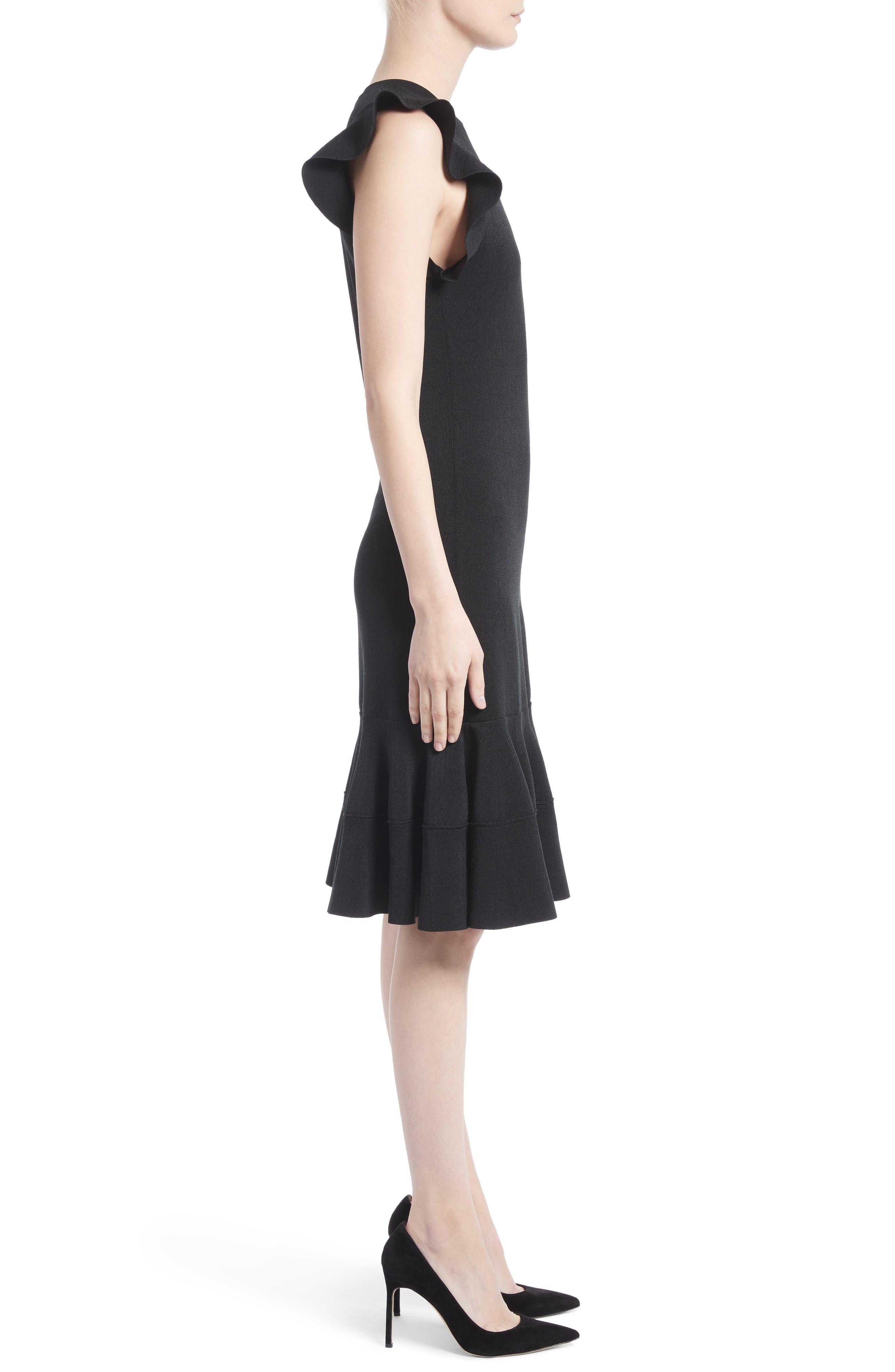 One-Shoulder Ruffle Dress,                             Alternate thumbnail 3, color,