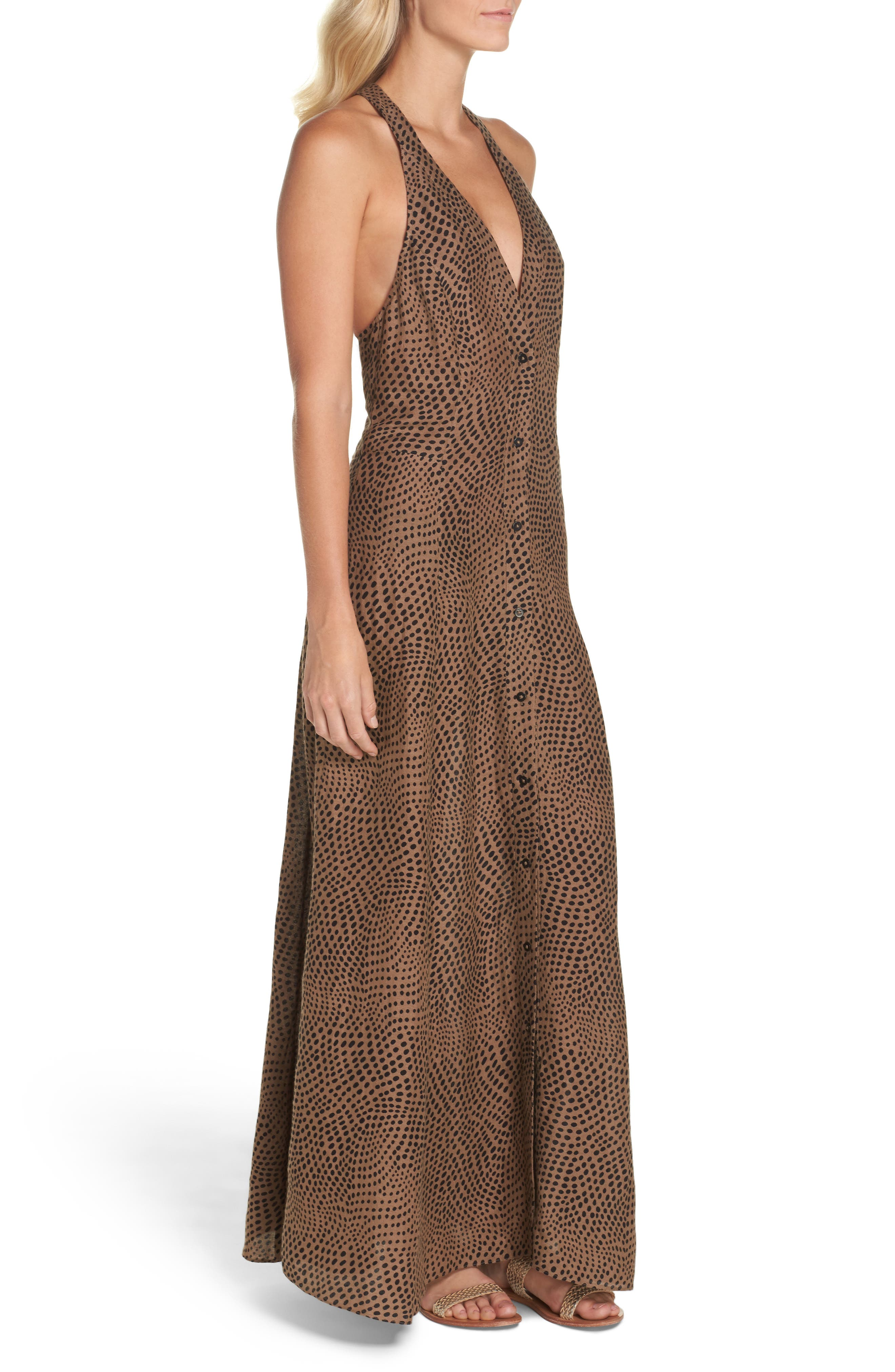 Sleeveless Cover-Up Dress,                             Alternate thumbnail 3, color,