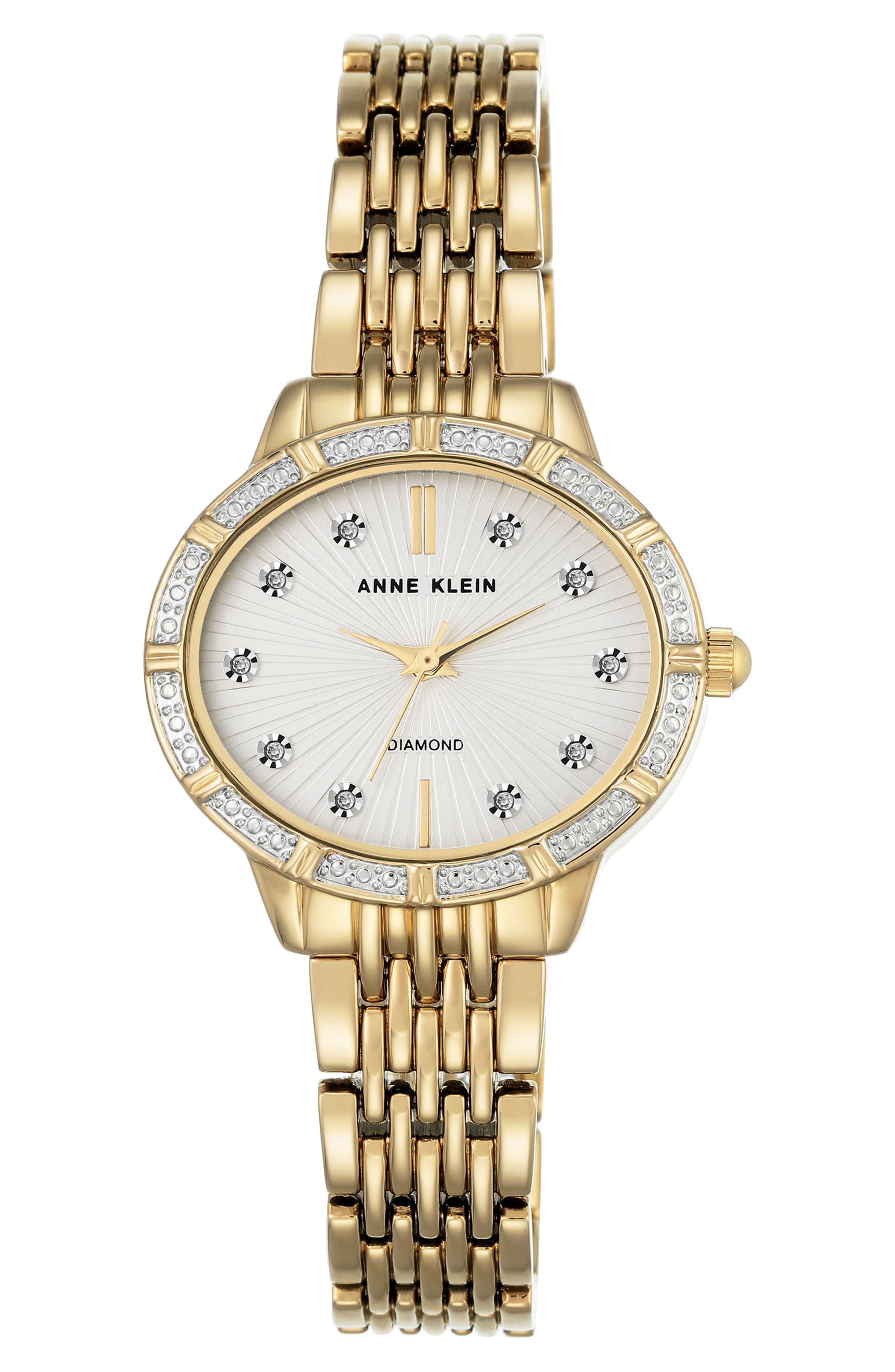 Oval Diamond Bracelet Watch, 28mm,                             Main thumbnail 1, color,                             711