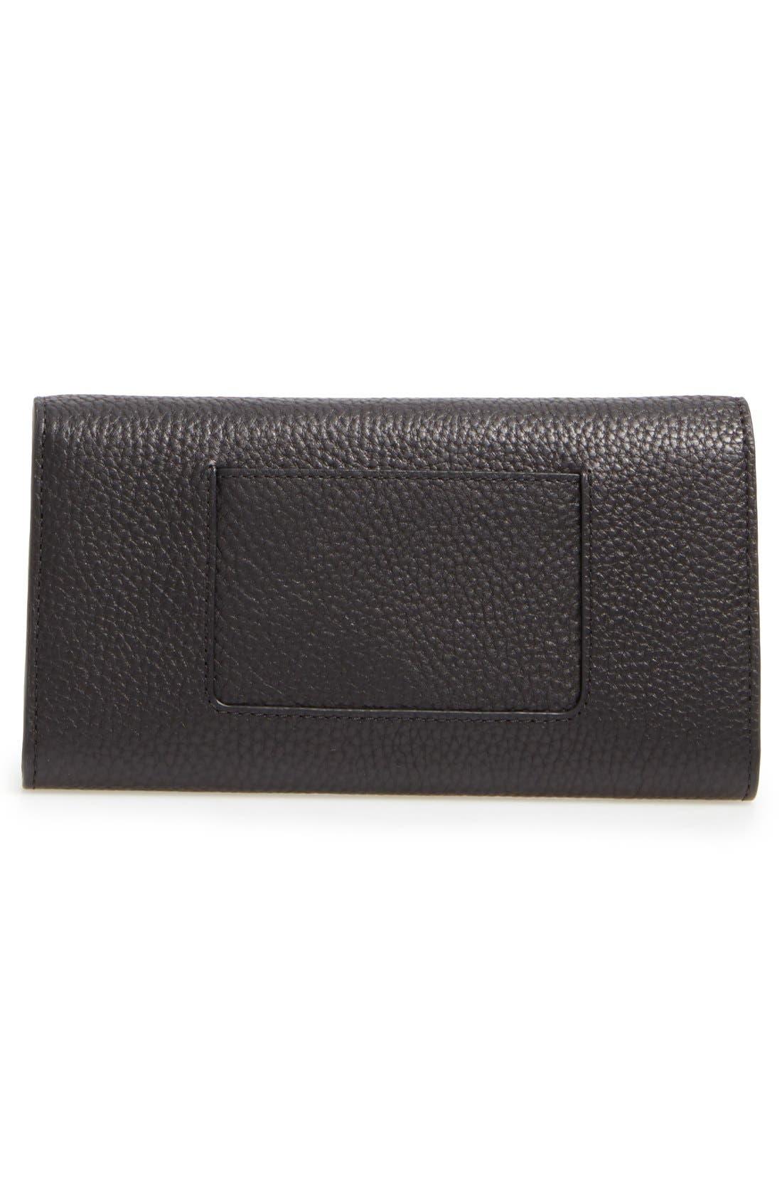 'Postman's Lock' Leather Wallet,                             Alternate thumbnail 2, color,                             BLACK