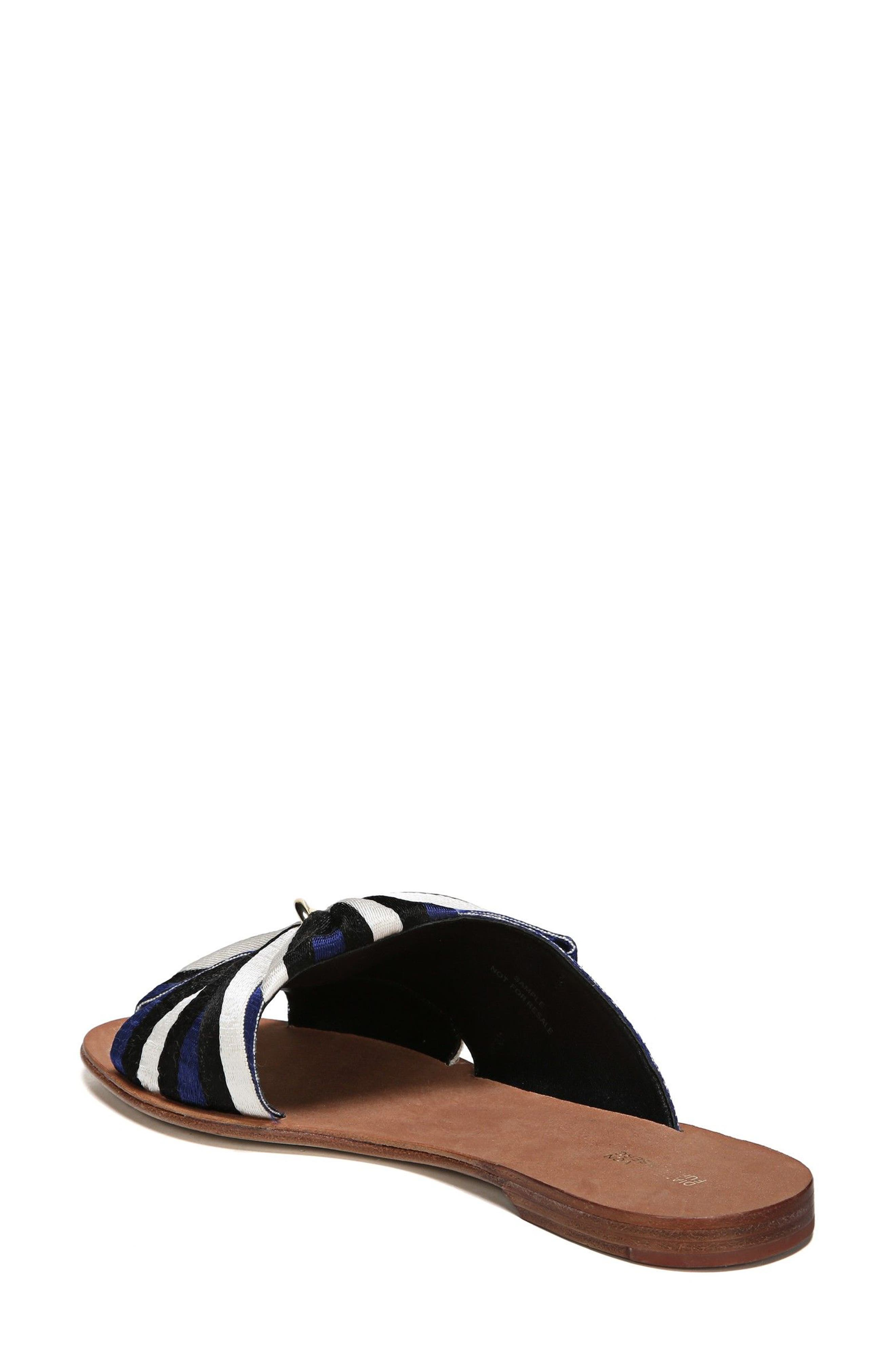 Bella Asymmetrical Slide Sandal,                             Alternate thumbnail 3, color,