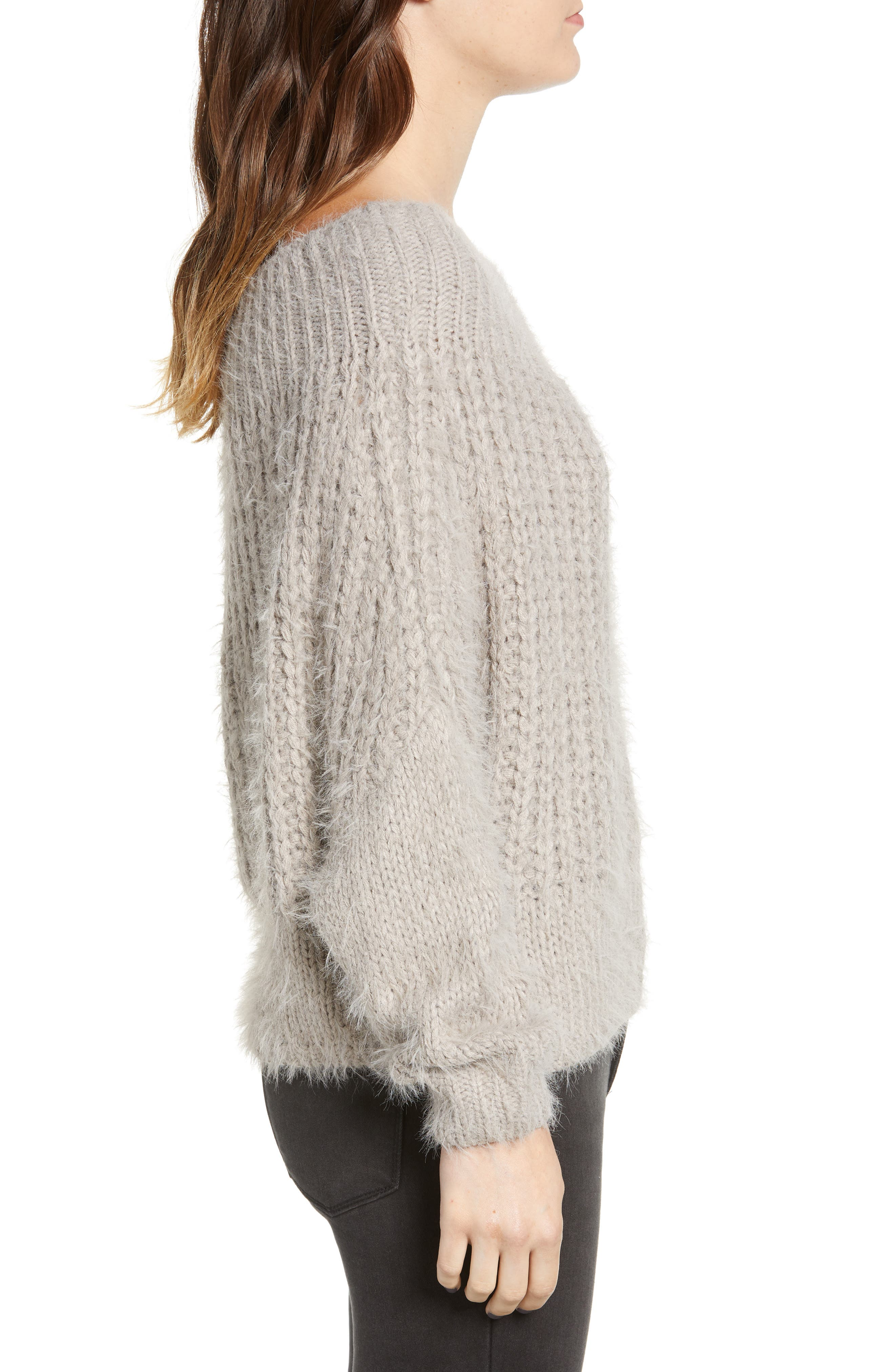 DREAMERS BY DEBUT,                             Boatneck Knit Pullover,                             Alternate thumbnail 3, color,                             MICRO GREY