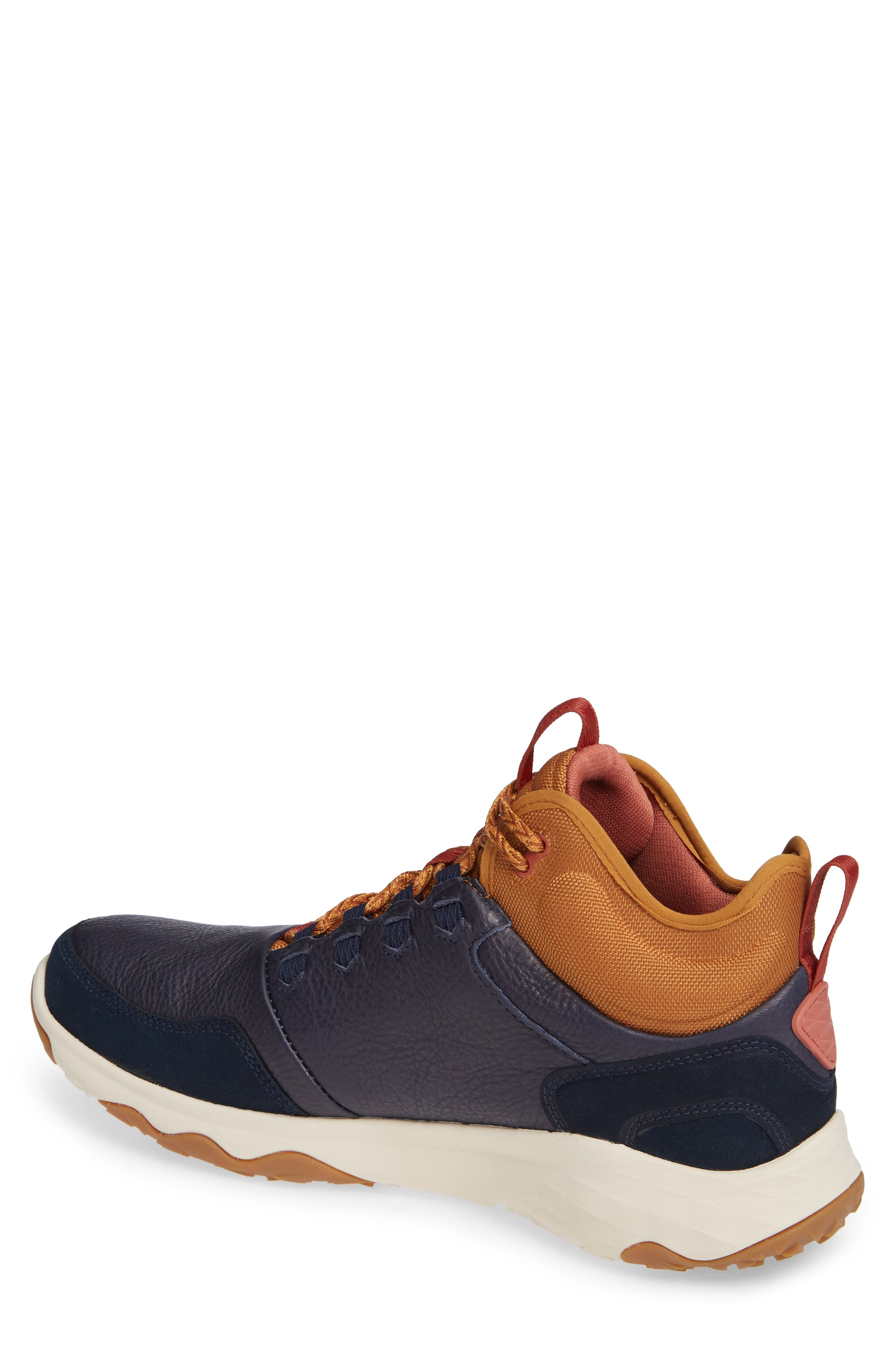 Arrowood 2 Mid Waterproof Sneaker Boot,                             Alternate thumbnail 2, color,                             MIDNIGHT NAVY LEATHER