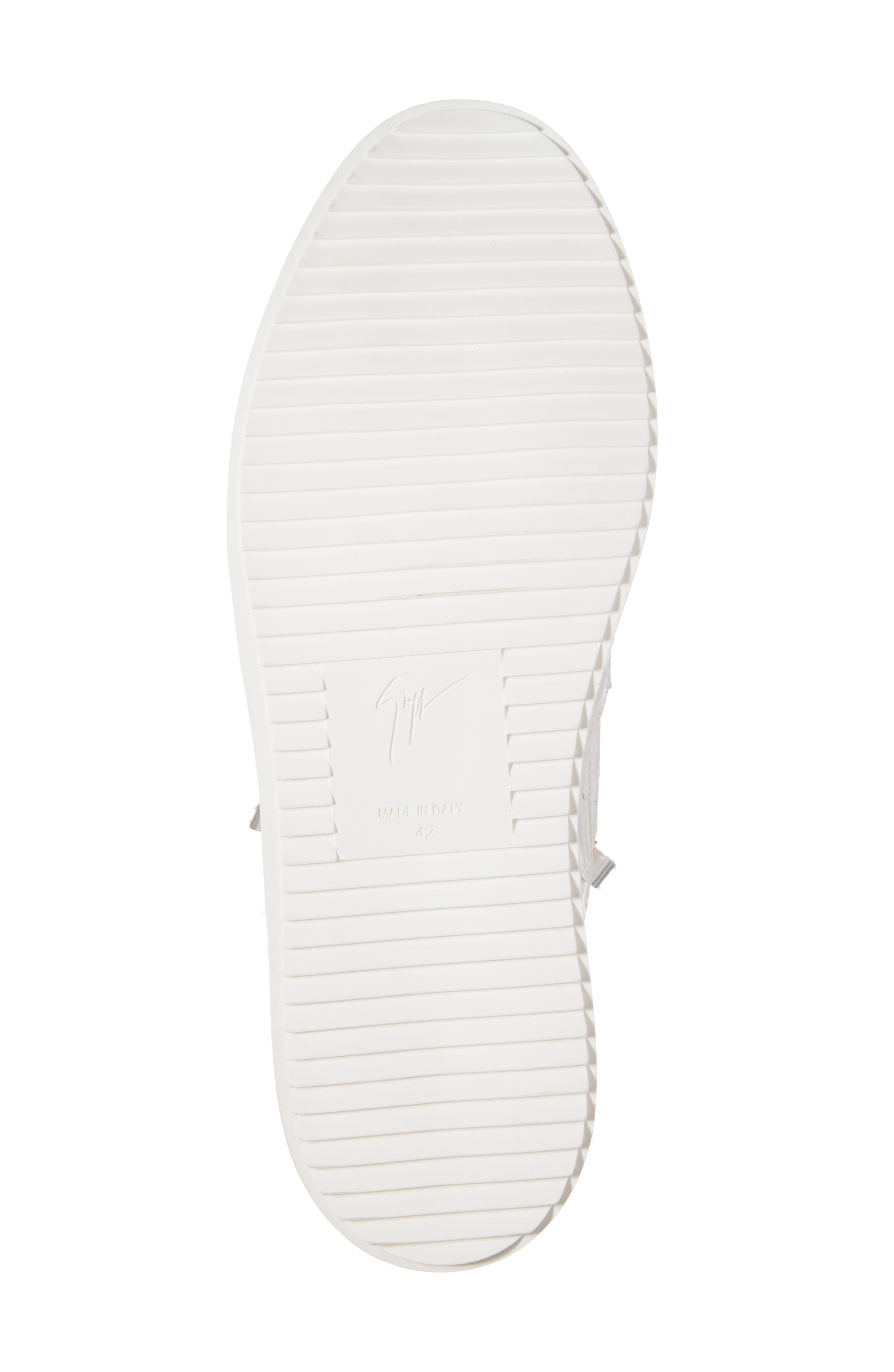 Mid Top Sneaker,                             Alternate thumbnail 6, color,                             WHITE