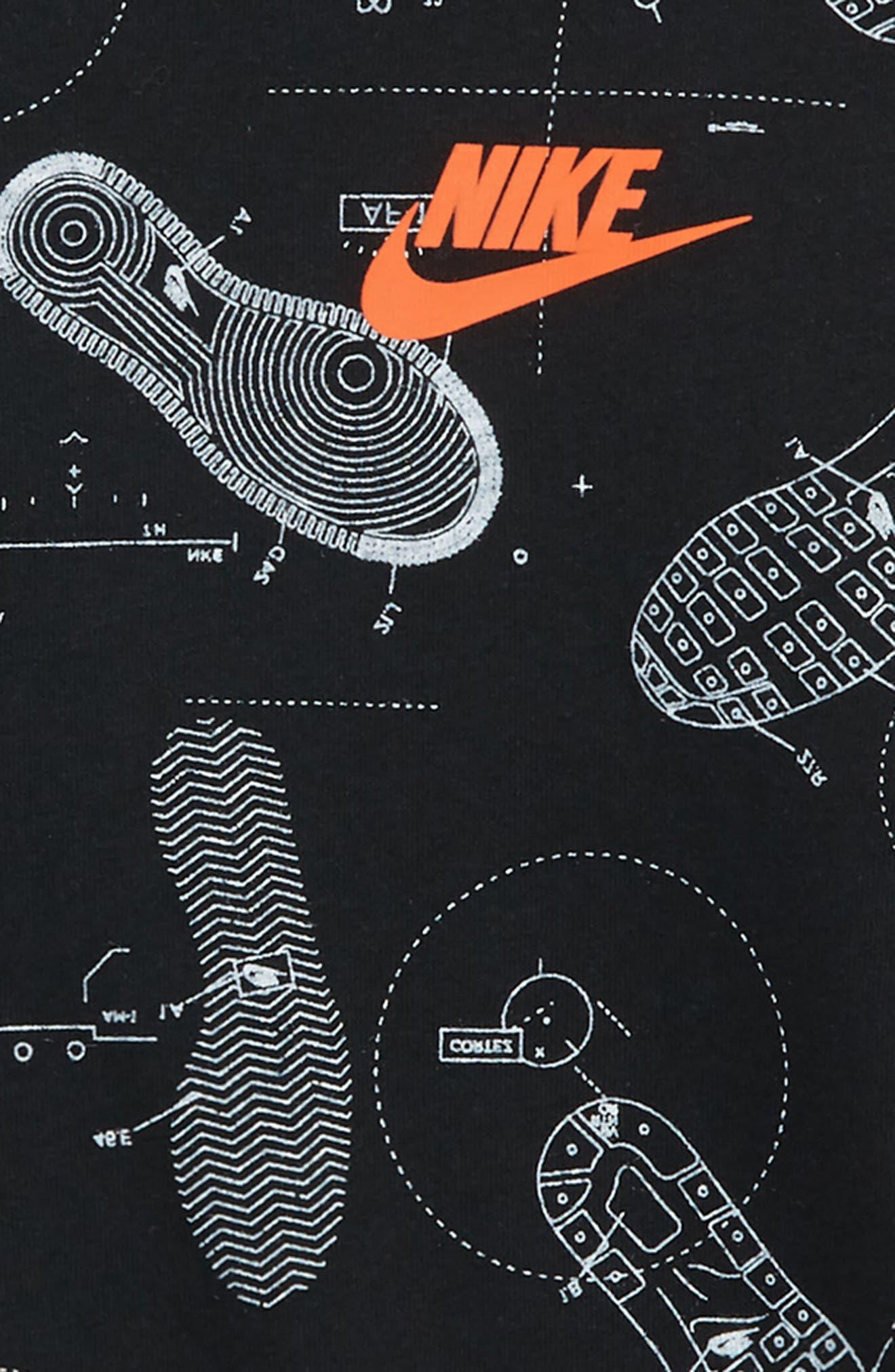 Shoeprint Blueprint Graphic T-Shirt,                             Alternate thumbnail 3, color,