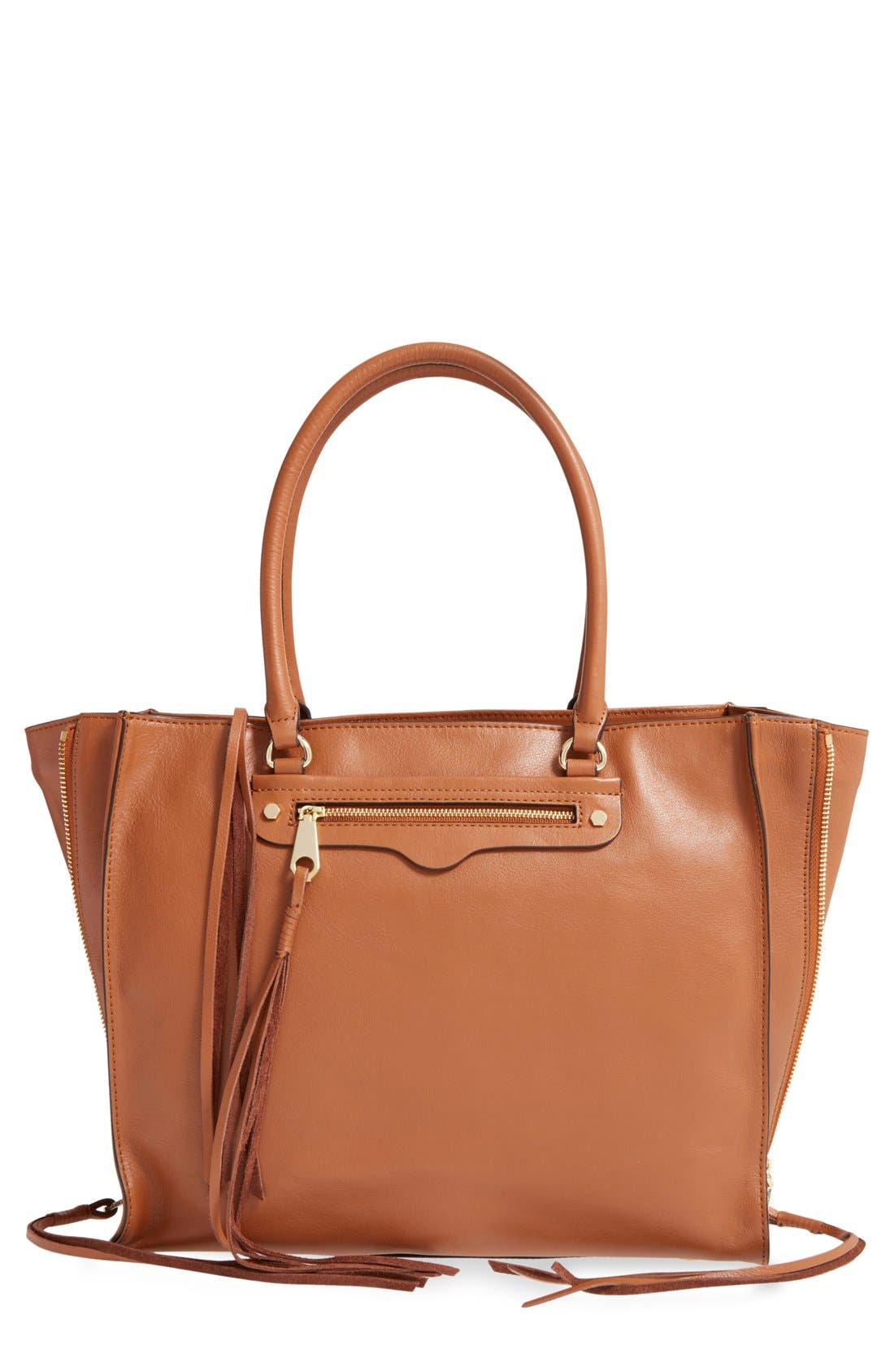 'Side Zip Regan' Tote,                             Main thumbnail 5, color,