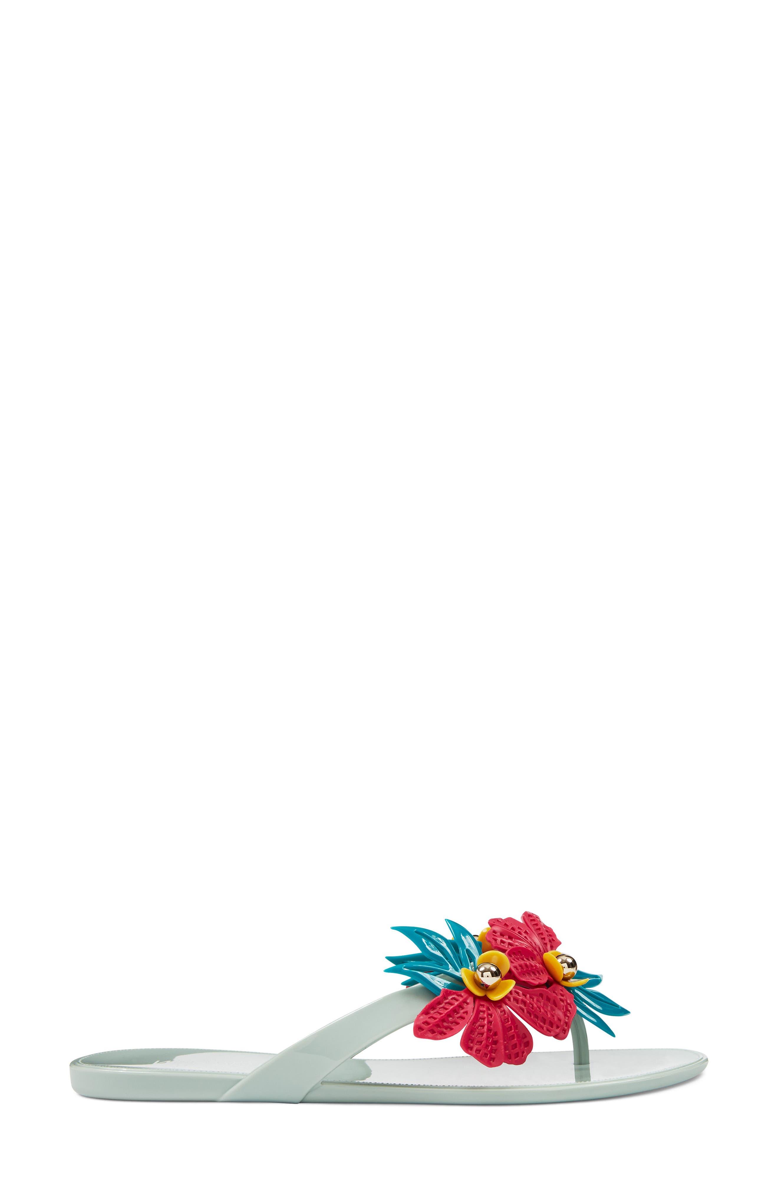 Macinee Thong Sandal,                             Alternate thumbnail 3, color,                             LIGHT GREEN MULTI