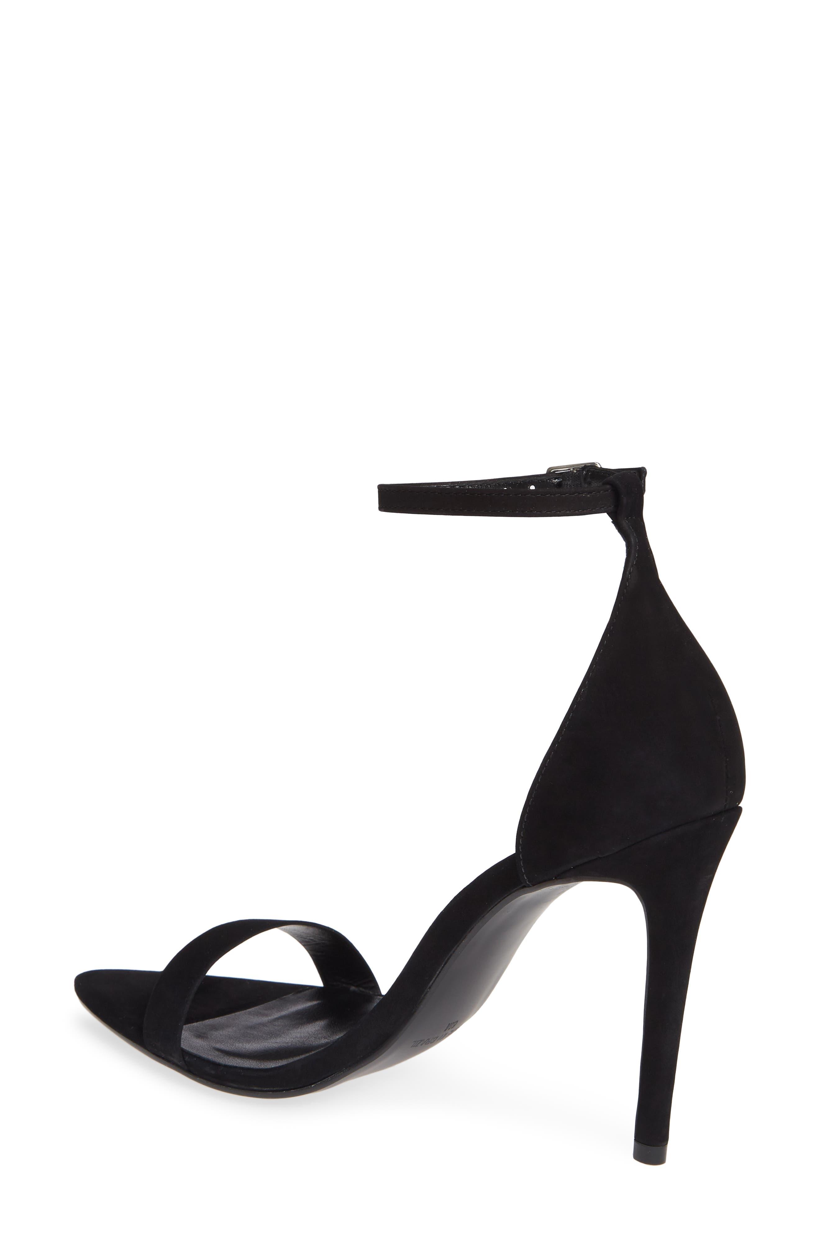 Ankle Strap Sandal,                             Alternate thumbnail 2, color,                             BLACK NUBUCK