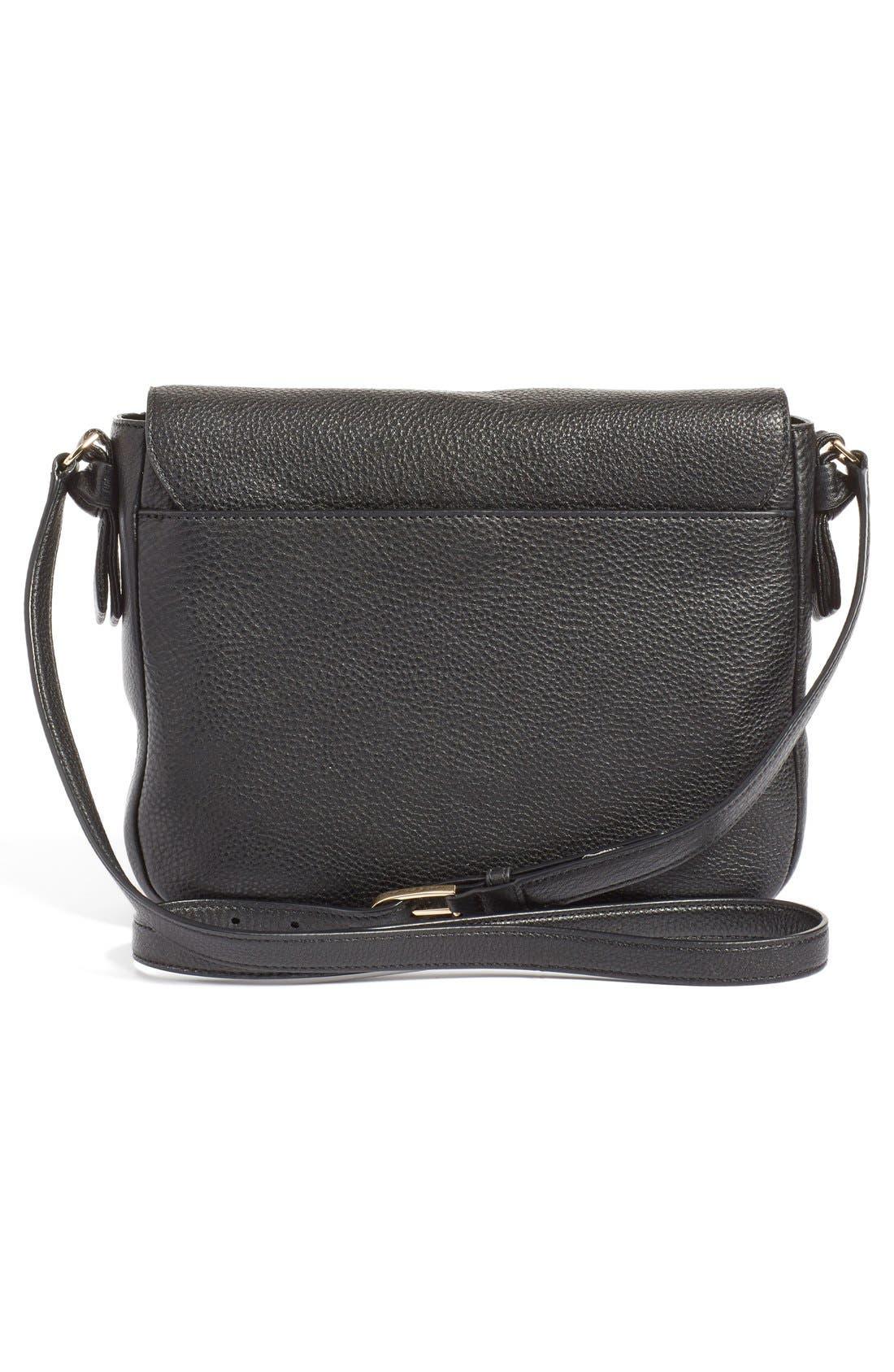 'Harper' Leather Crossbody Bag,                             Alternate thumbnail 5, color,                             012