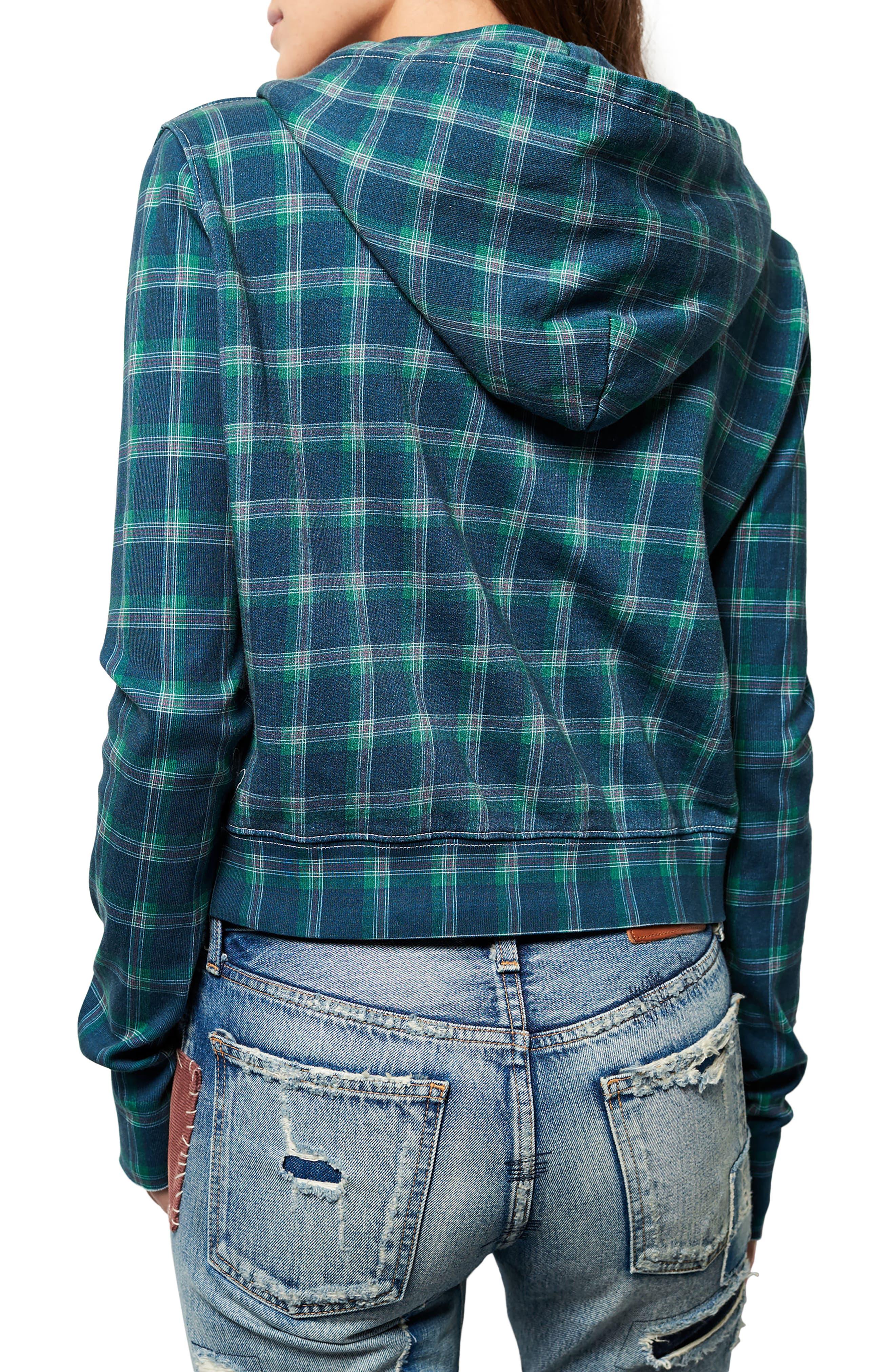 Crop Zip Hoodie,                             Alternate thumbnail 2, color,                             406