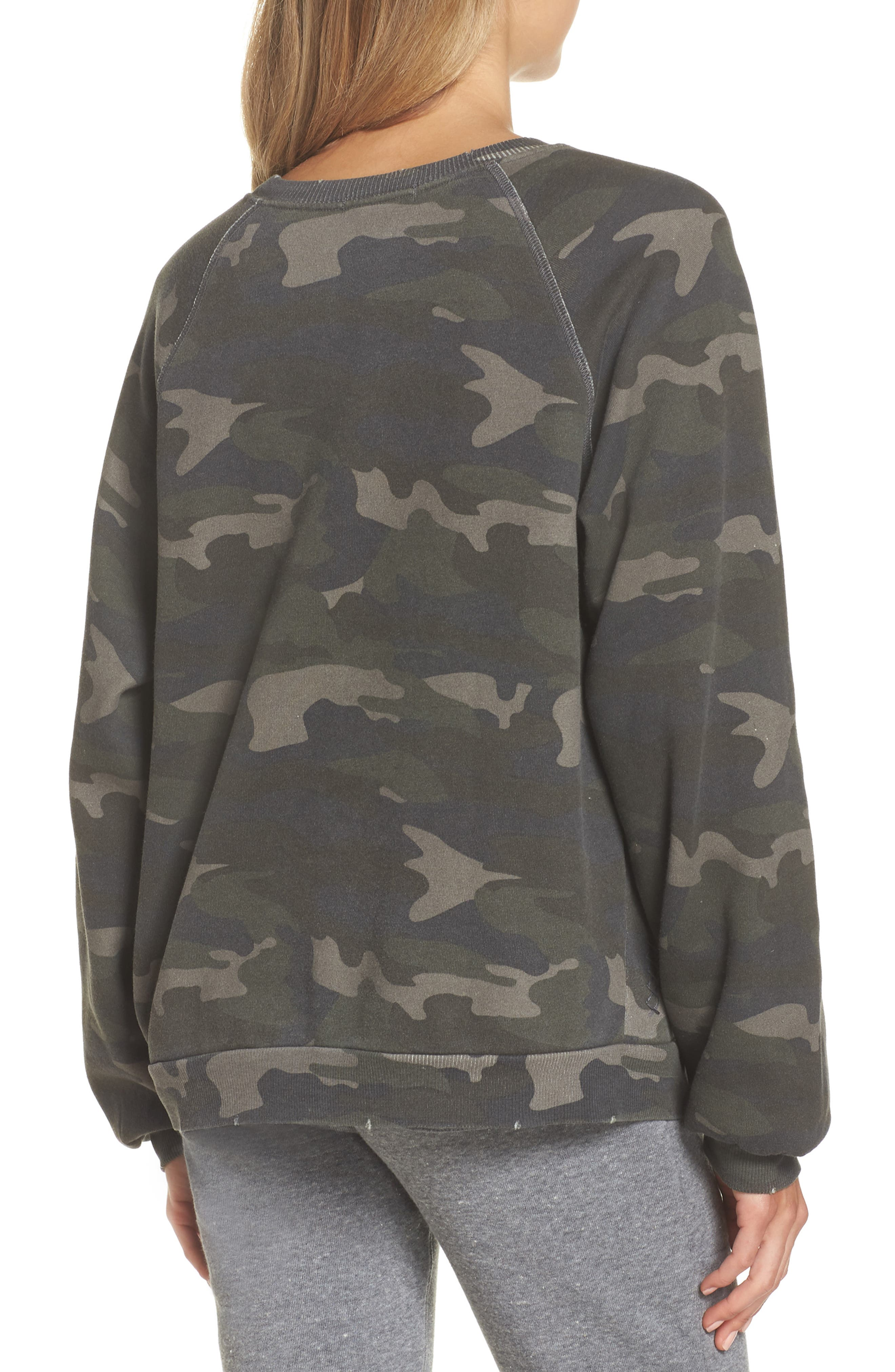 Camo Oversize Sweatshirt,                             Alternate thumbnail 2, color,                             CAMO