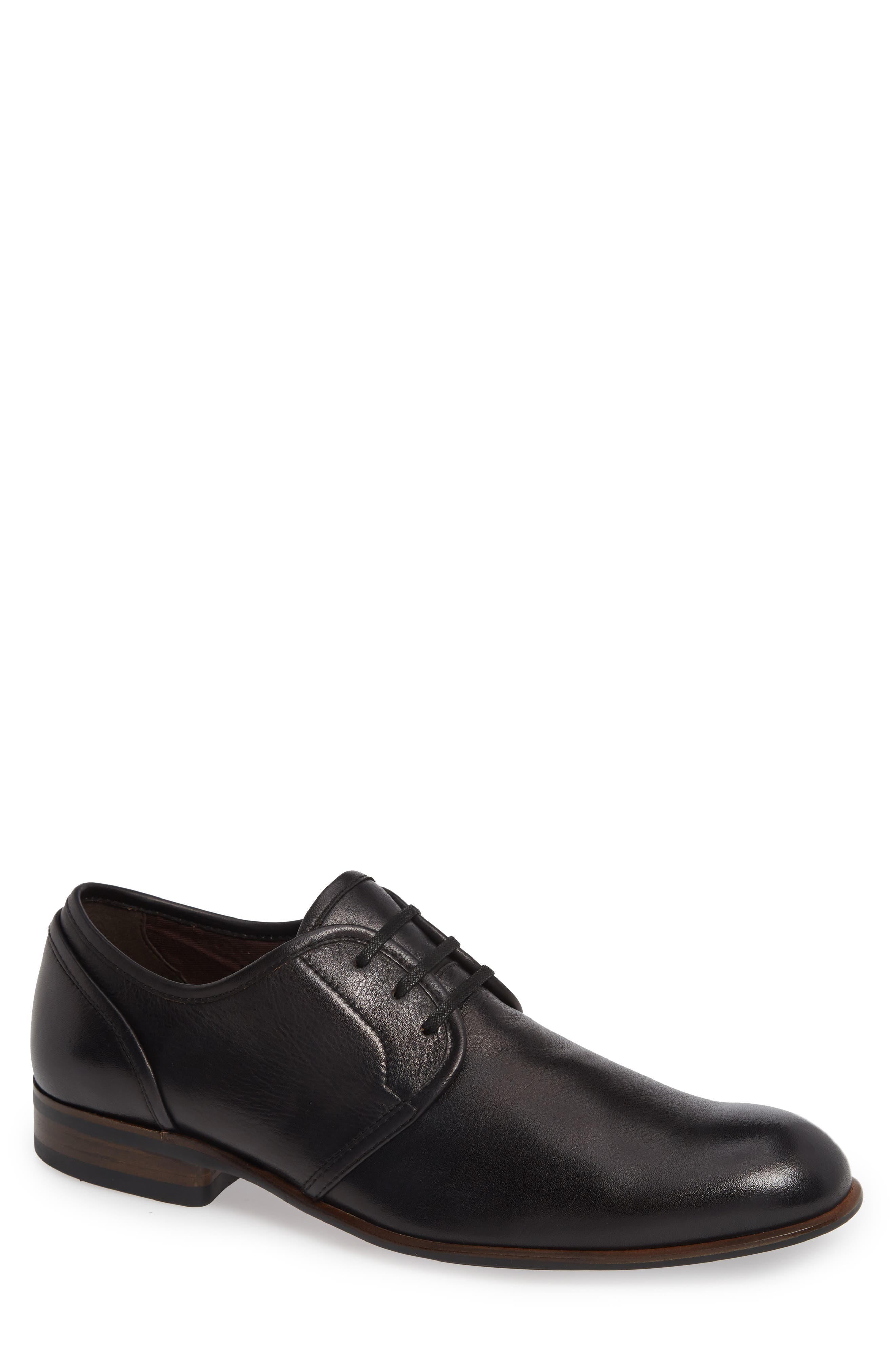 Star USA Seagher Plain Toe Derby, Main, color, BLACK