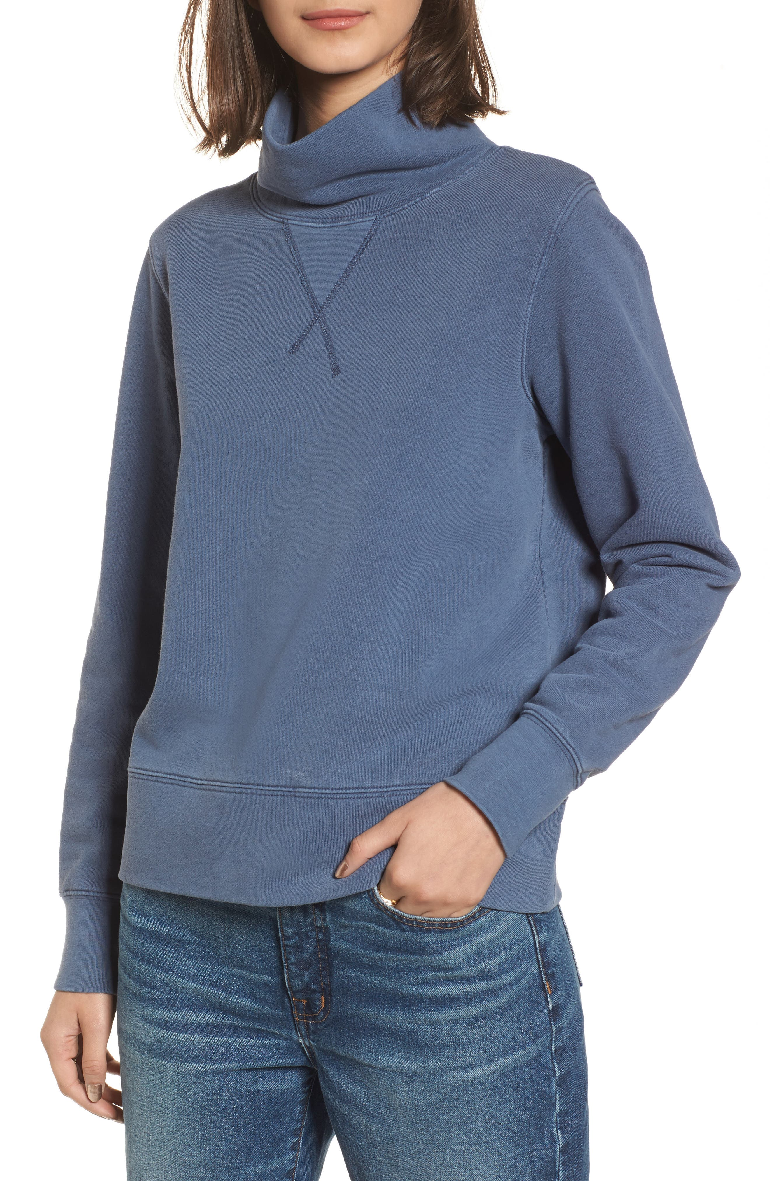 Garment Dyed Funnel Neck Sweatshirt,                             Main thumbnail 2, color,