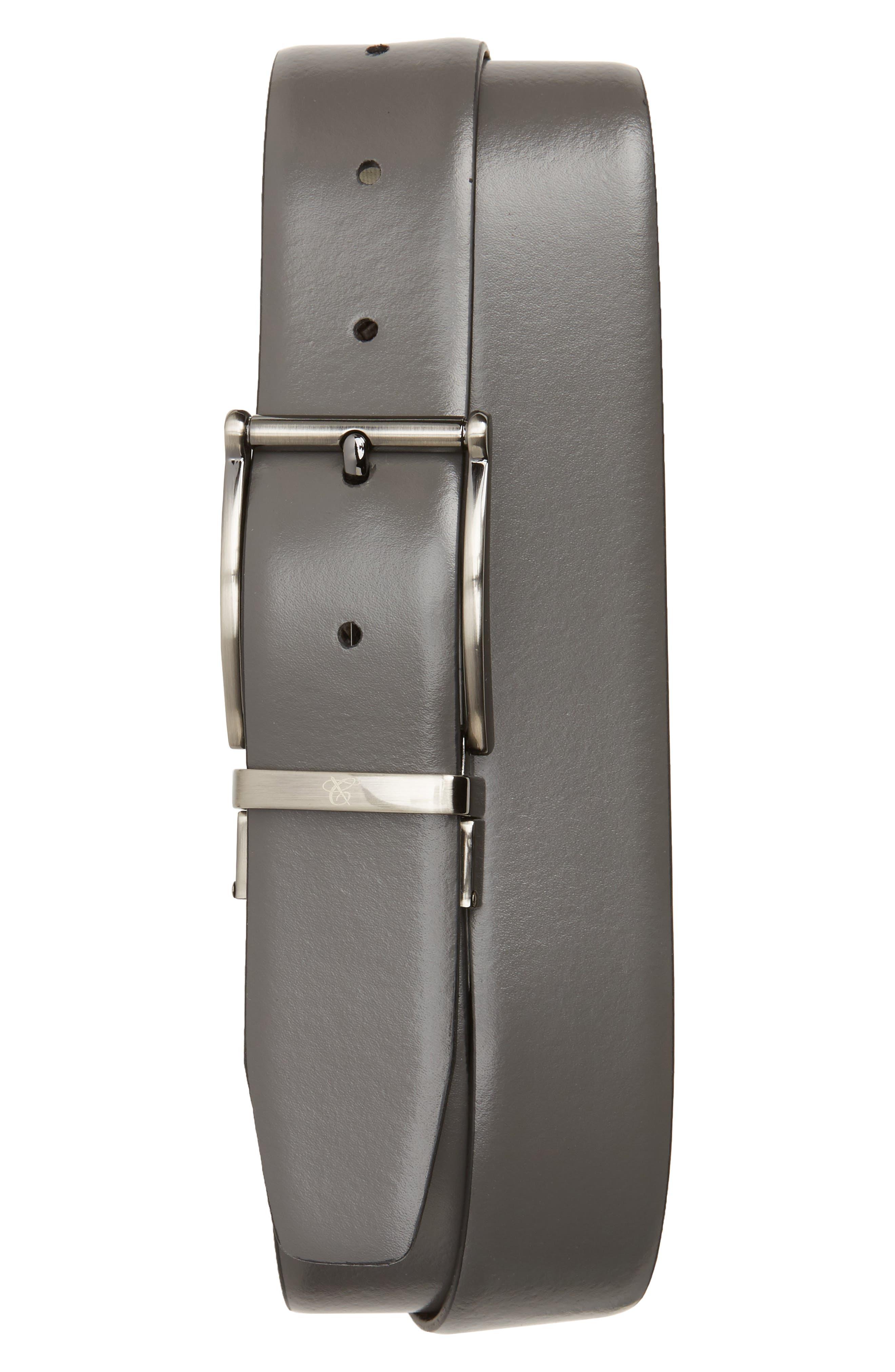 Reversible Leather Belt,                             Alternate thumbnail 2, color,                             020