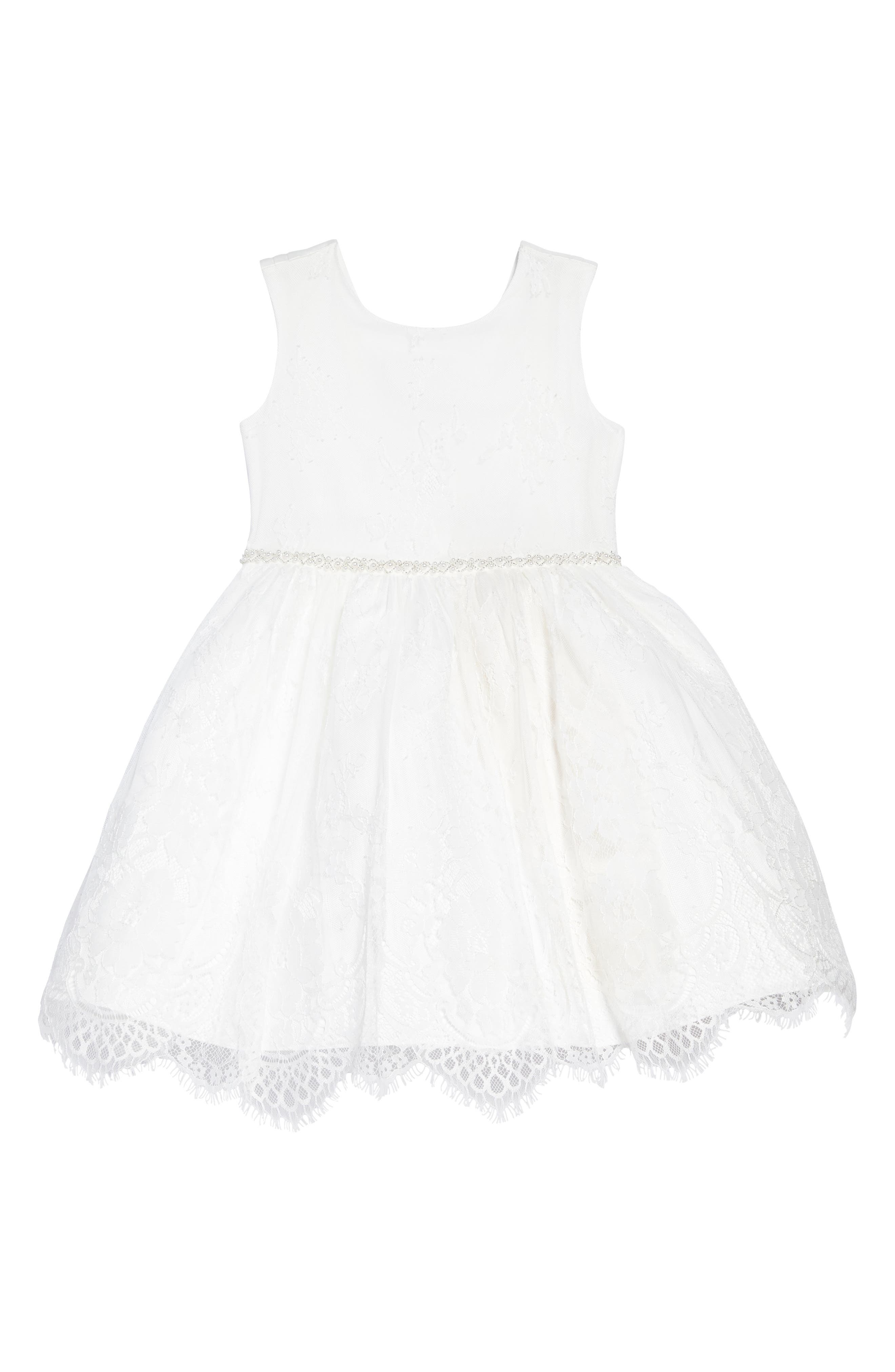 US ANGELS The Randi Floral Lace Dress, Main, color, IVORY