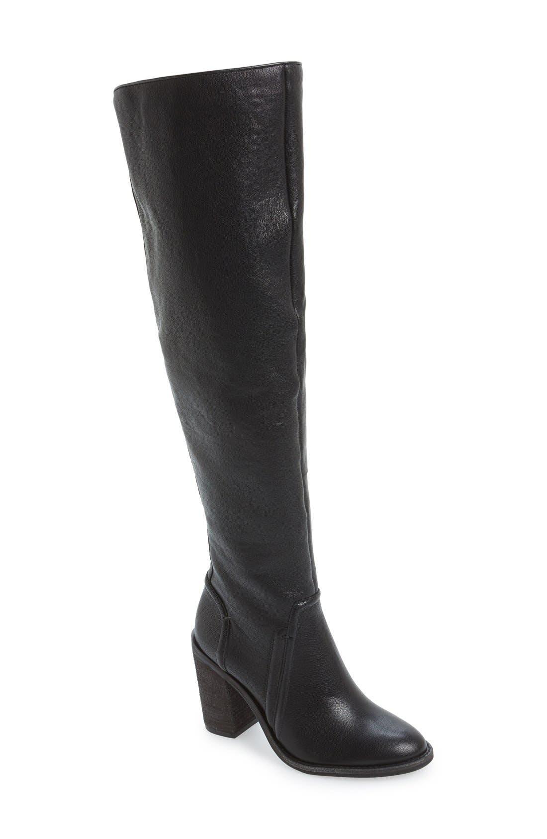 'Melaya' Over the Knee Boot,                             Main thumbnail 1, color,                             001