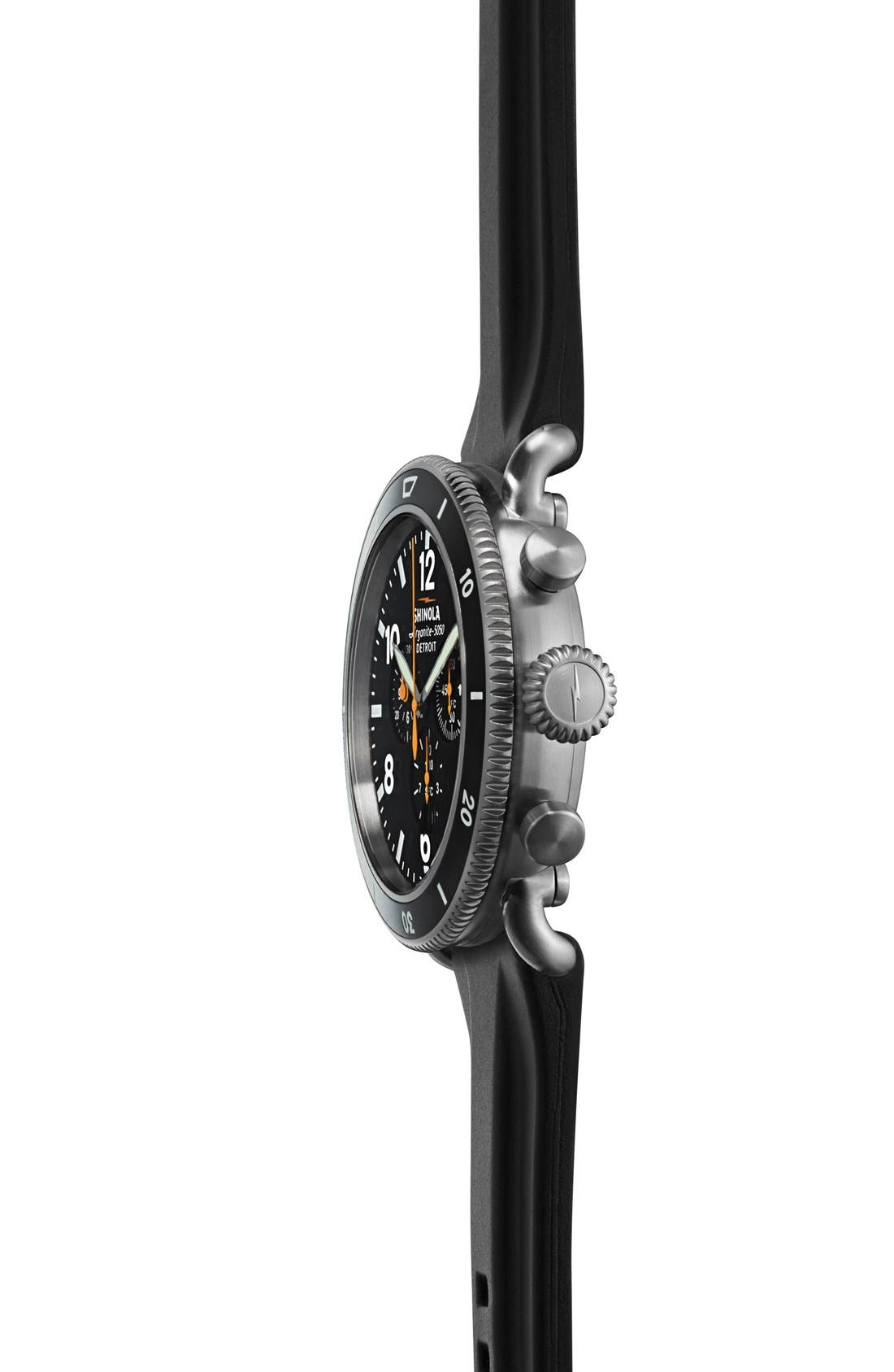 'The Black Blizzard' Chronograph Interchangeable Strap Watch, 48mm,                             Alternate thumbnail 2, color,                             SILVER/ BLACK
