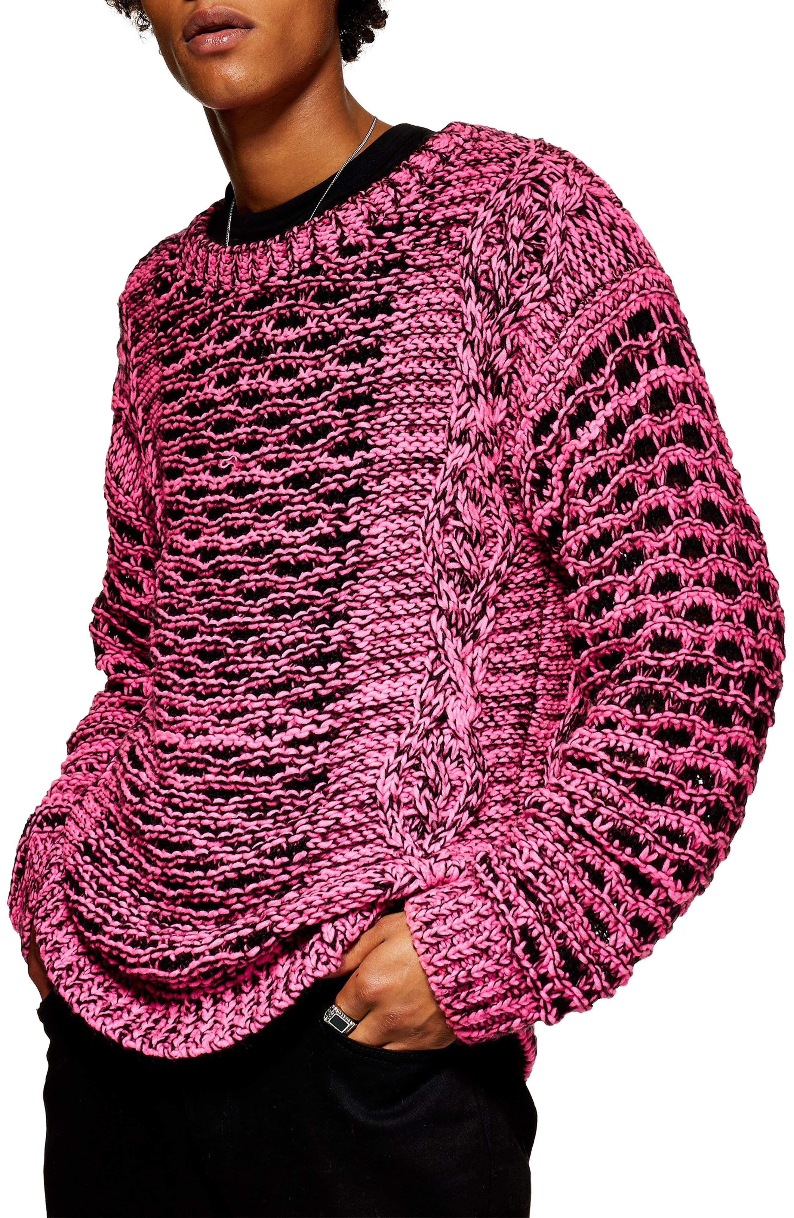 Topman Crewneck Sweater, Pink