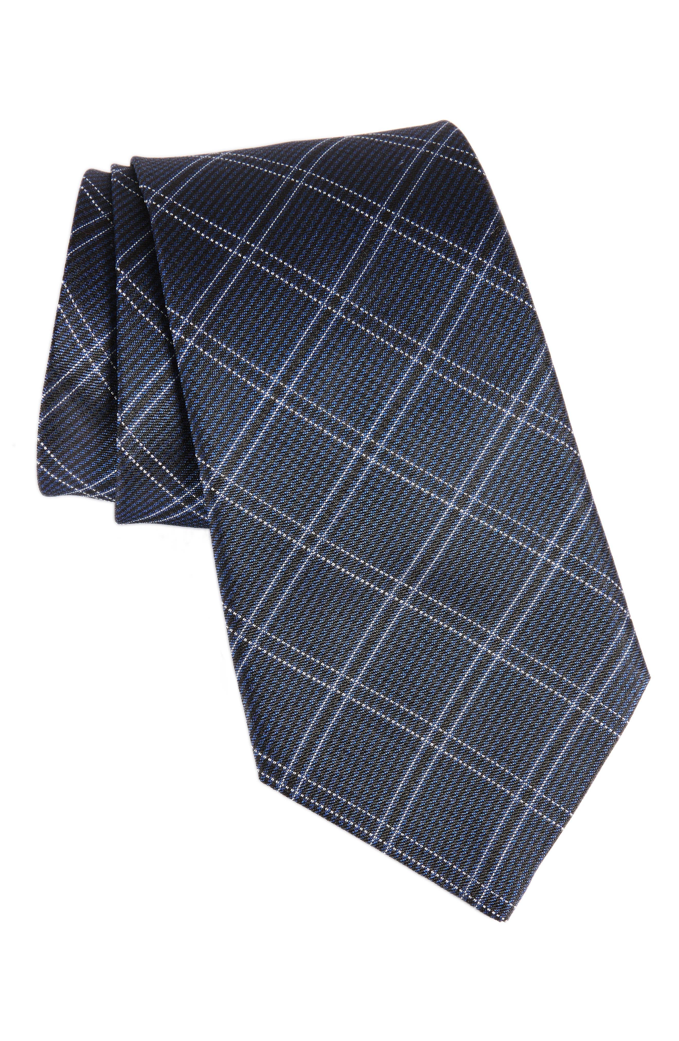 Plaid Silk Tie,                             Main thumbnail 1, color,                             409