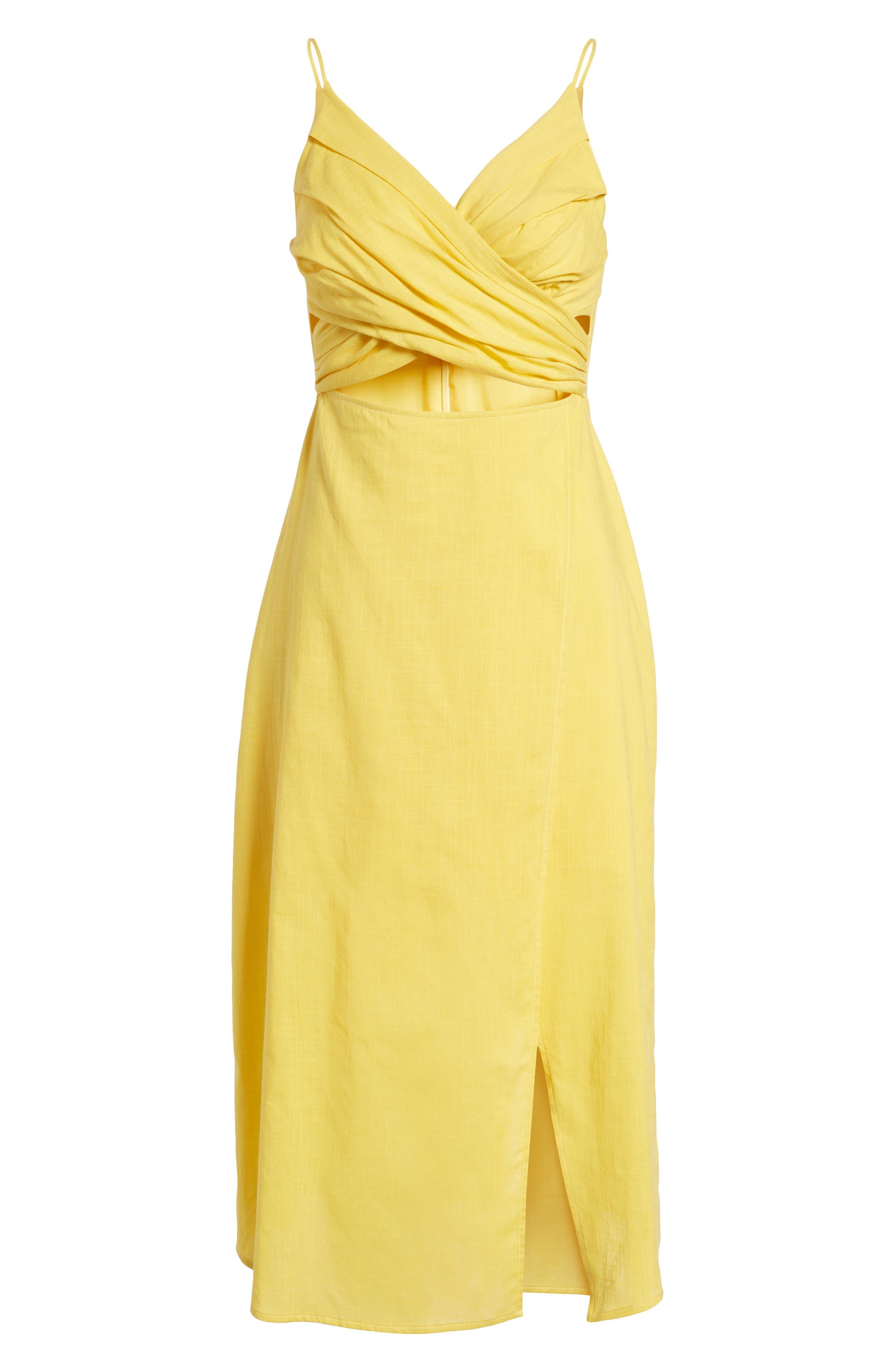 Cutout Midi Dress,                             Alternate thumbnail 6, color,                             700