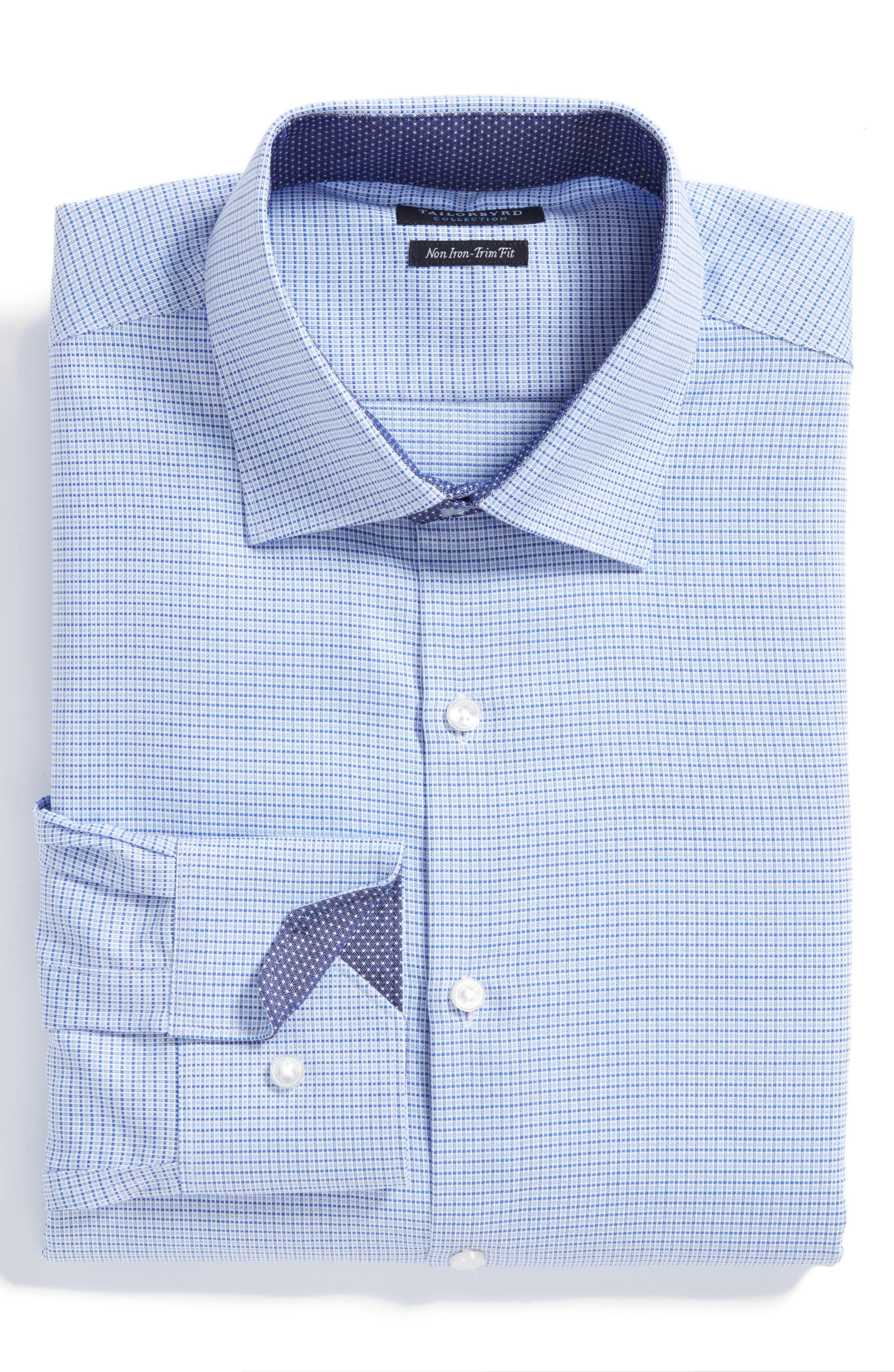 Destrehan Trim Fit Non-Iron Check Dress Shirt,                             Main thumbnail 1, color,