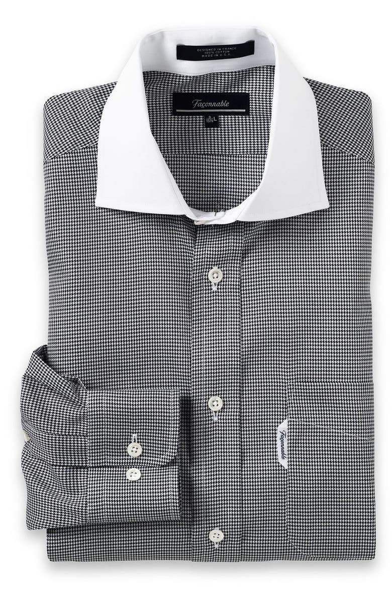 Faonnable Contrast Collar Dress Shirt Nordstrom