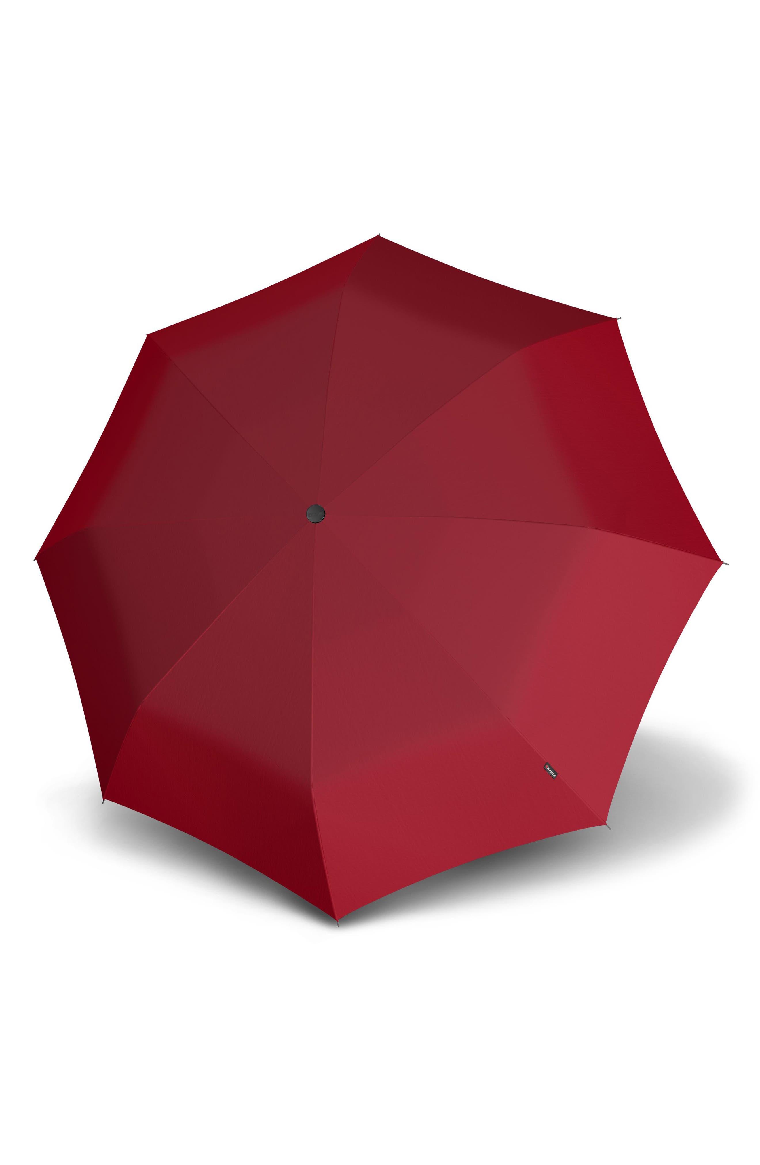 Compact Duomatic Umbrella,                             Main thumbnail 1, color,                             RED
